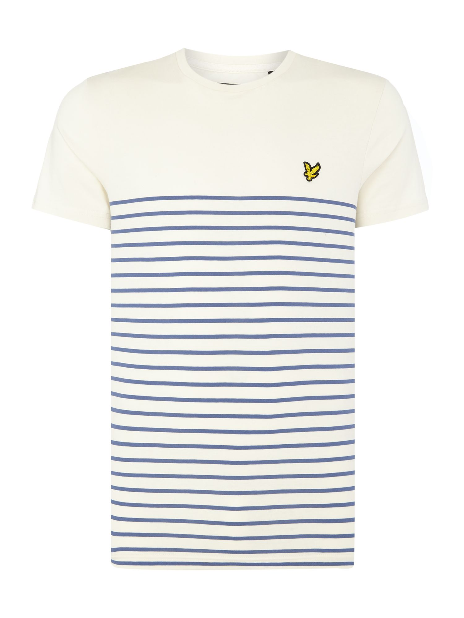 Men's Lyle and Scott Breton crew neck short sleeve t-shirt, Blue