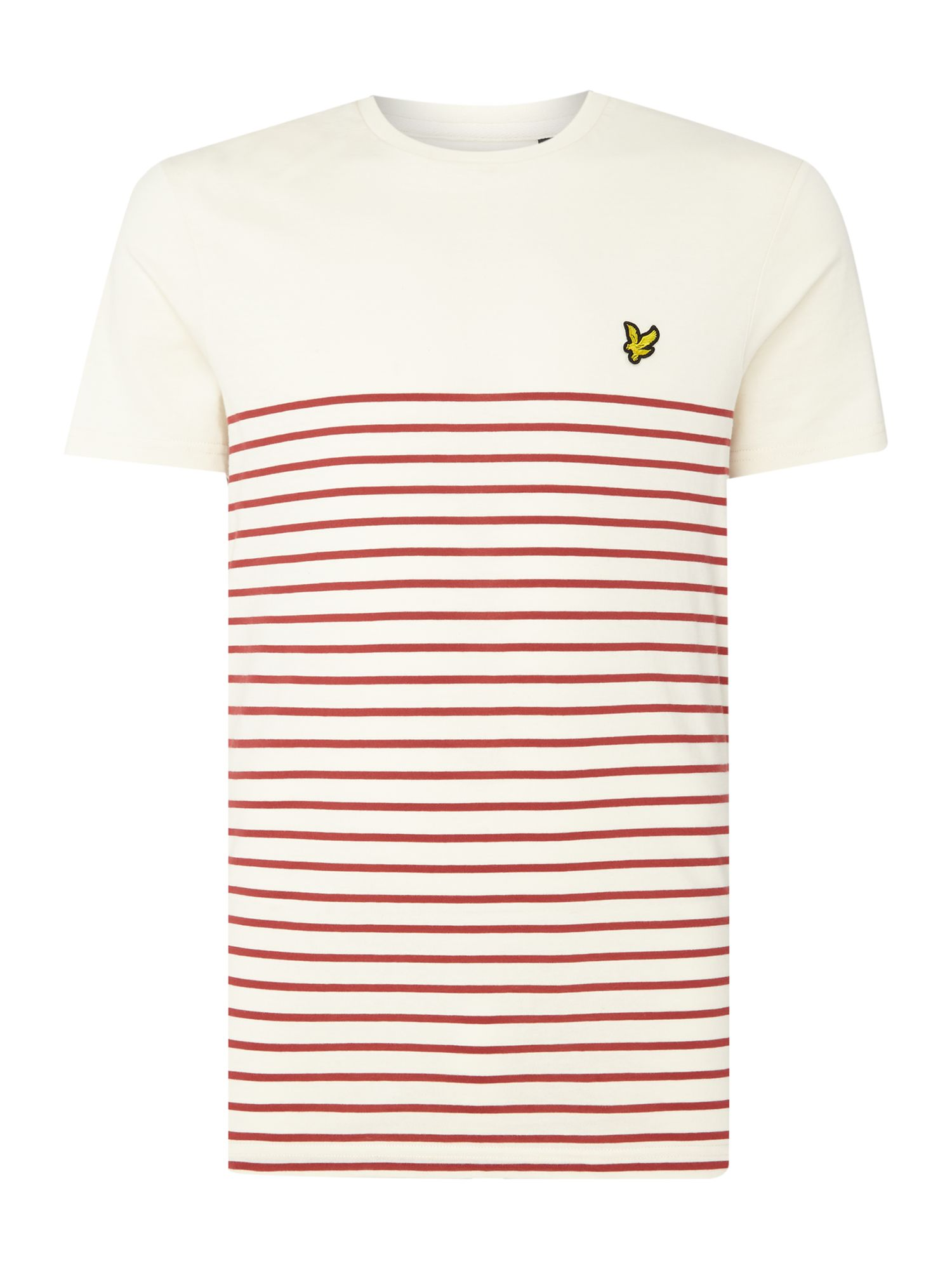 Men's Lyle and Scott Breton crew neck short sleeve t-shirt, Red