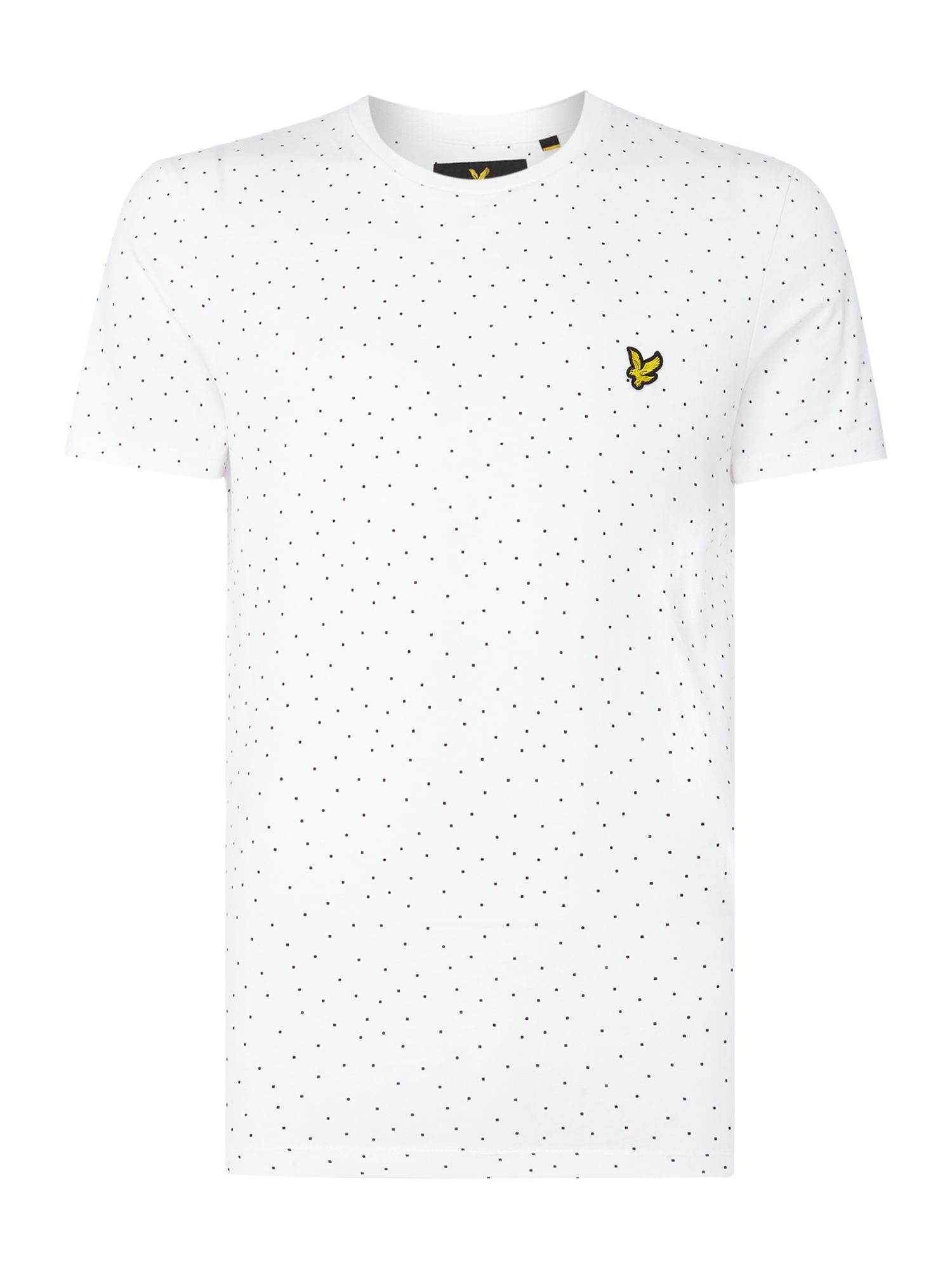 Men's Lyle and Scott Minimal dot crew neck short sleeve t-shirt, White