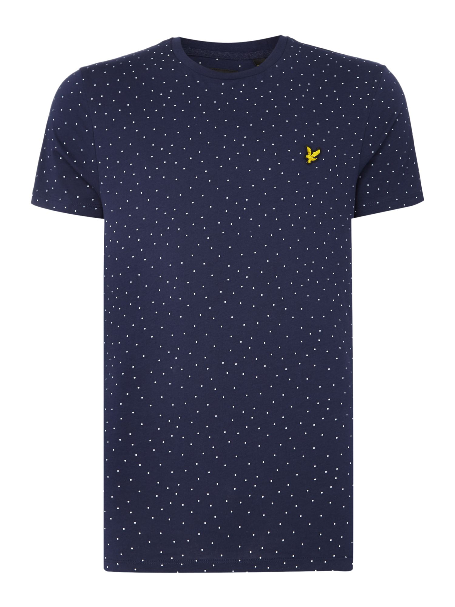 Men's Lyle and Scott Minimal dot crew neck short sleeve t-shirt, Blue