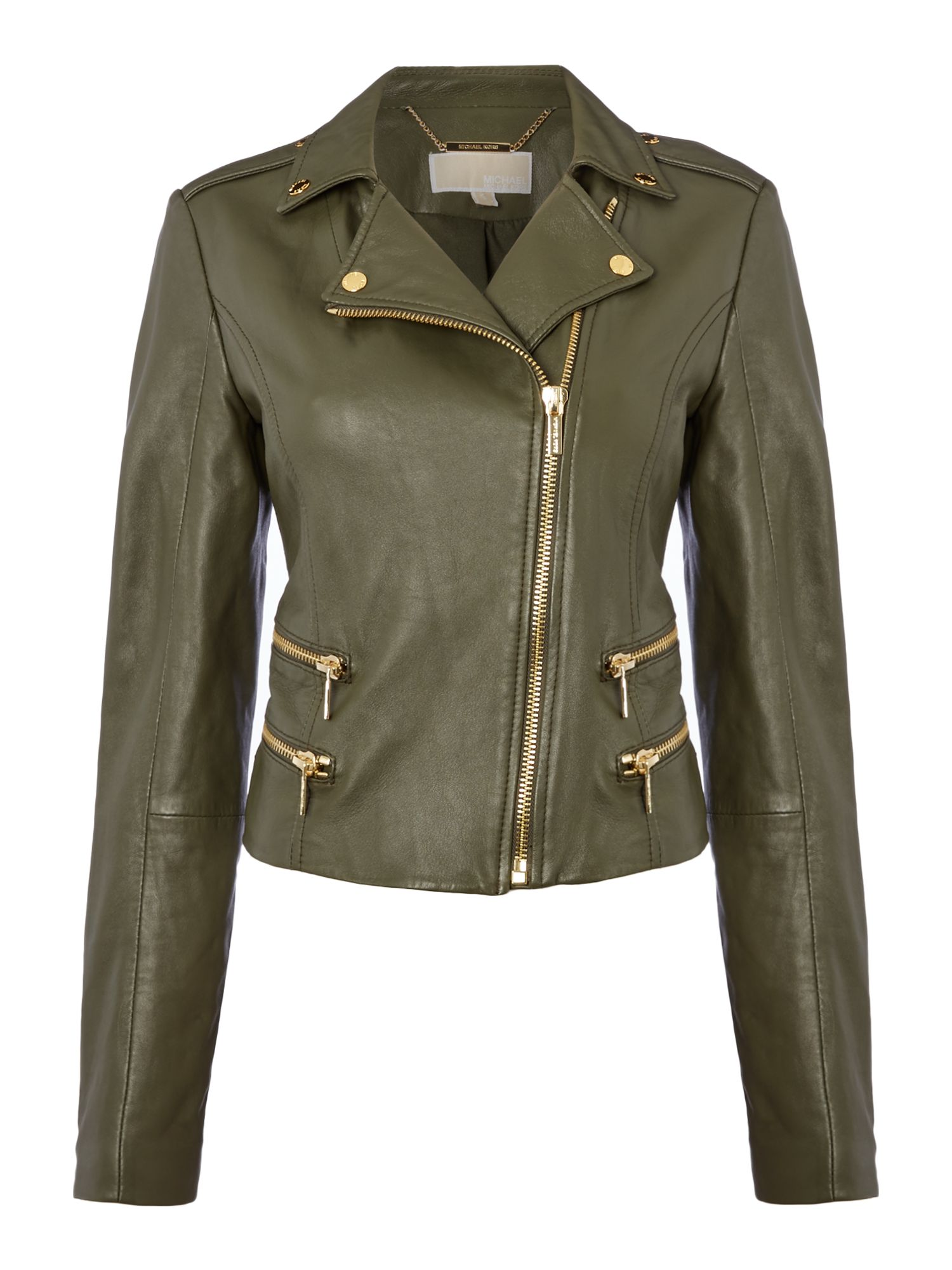 Michael Kors Biker jacket, Dark Green