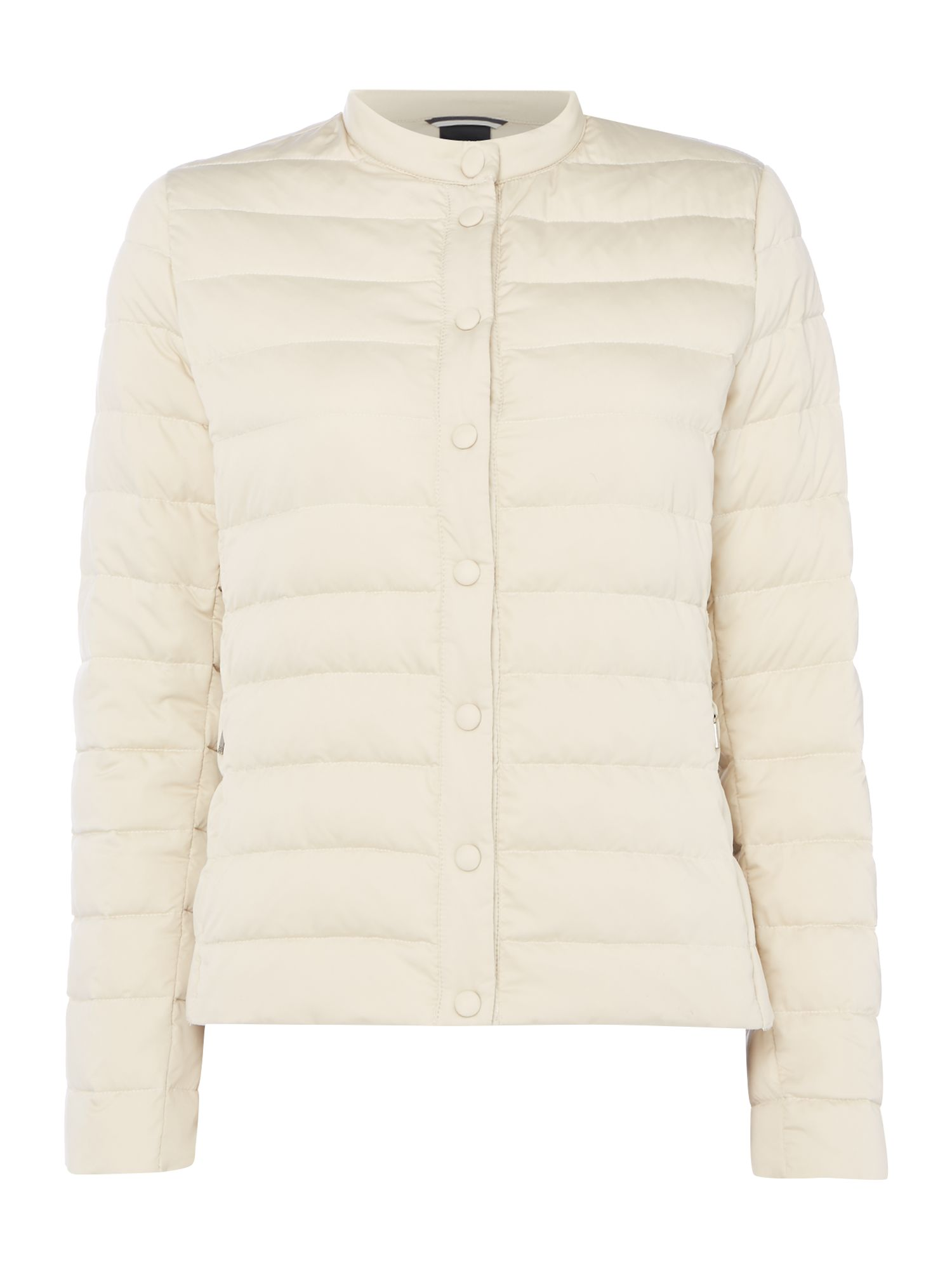 Max Mara Weekend Beber padded no collar coat, Cream