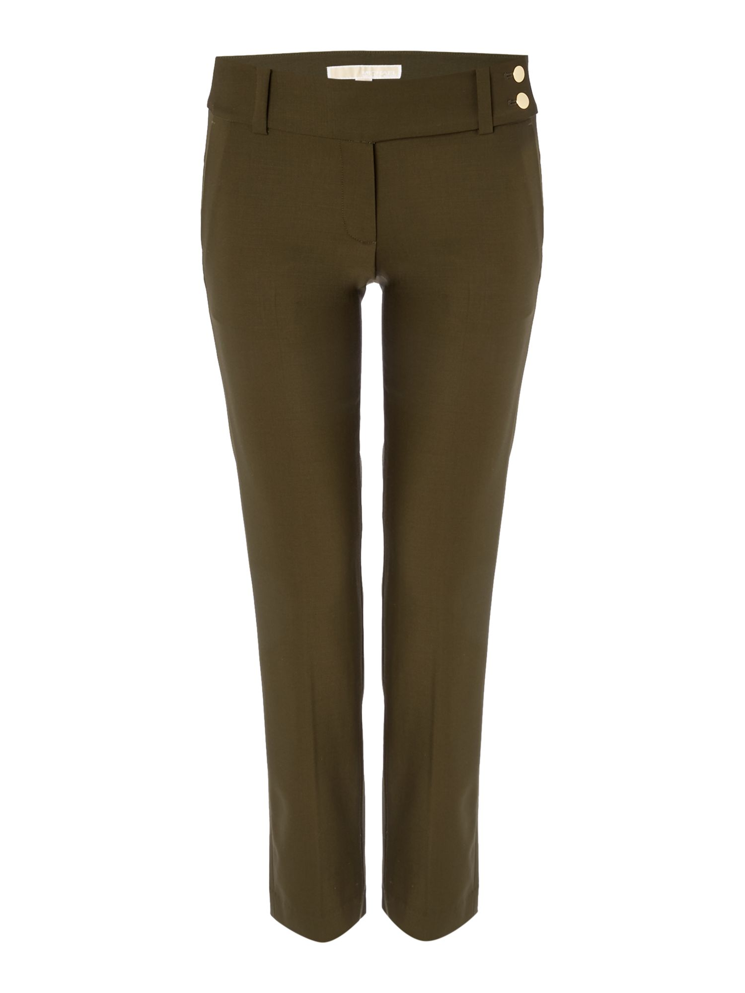 Michael Kors Cropped leg trousers, Dark Green