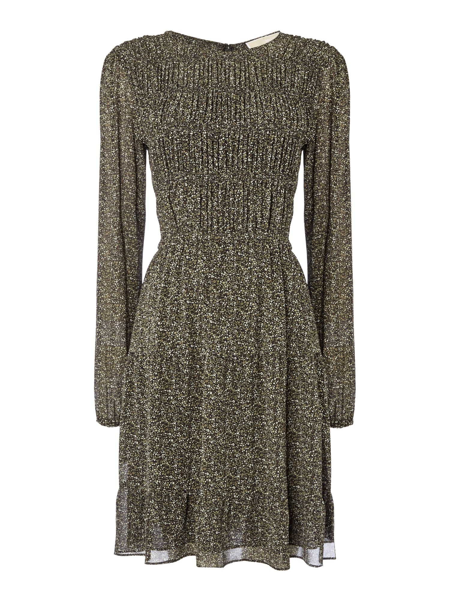 Michael Kors Long sleeve mock dress, Dark Green