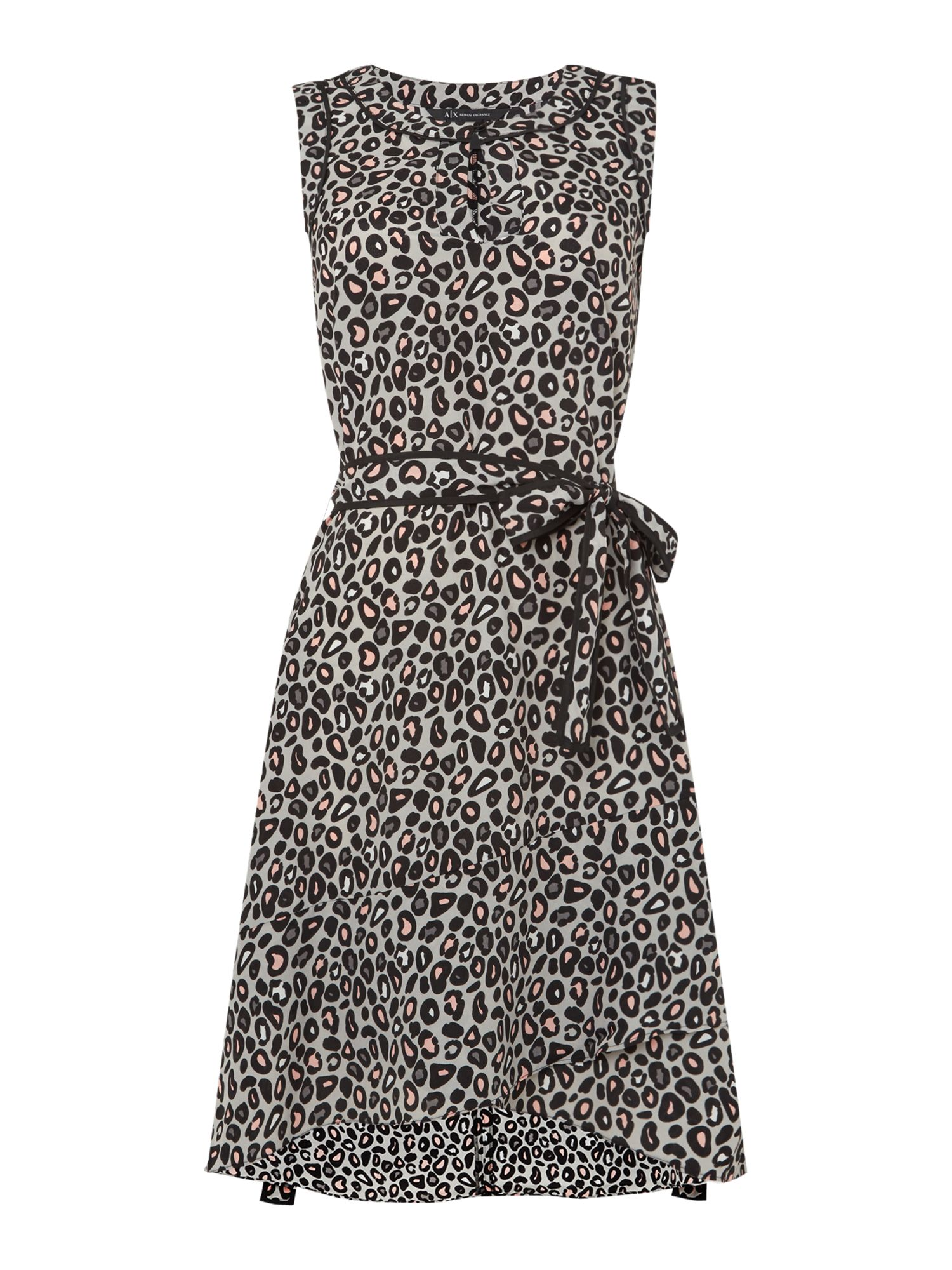 Armani Exchange Woven Dress in Grey Copenhagen, Grey