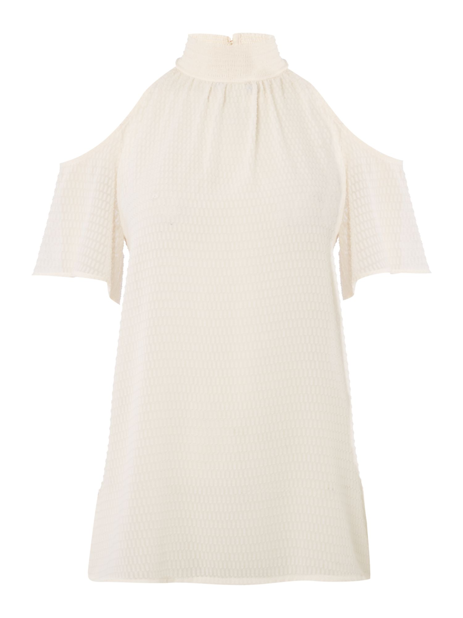 Michael Kors Cold shoulder smock top, White