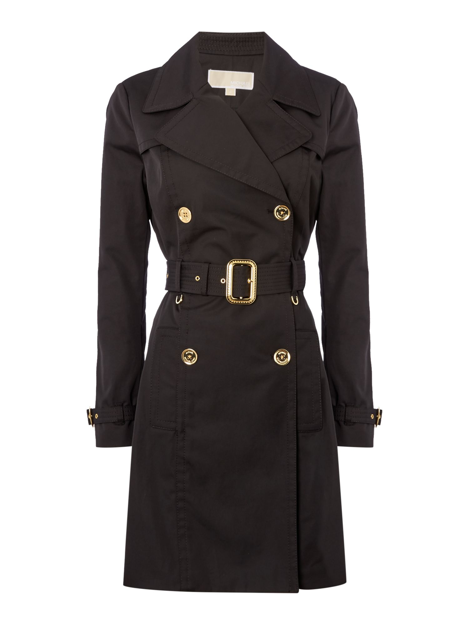 Michael Kors Pleated trench jacket, Black