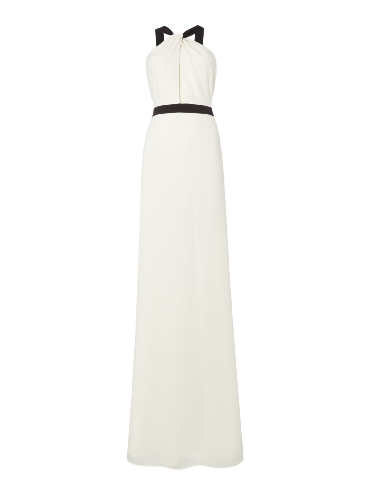 Jill Jill Stuart Crepe gown with contrast strap, Off White