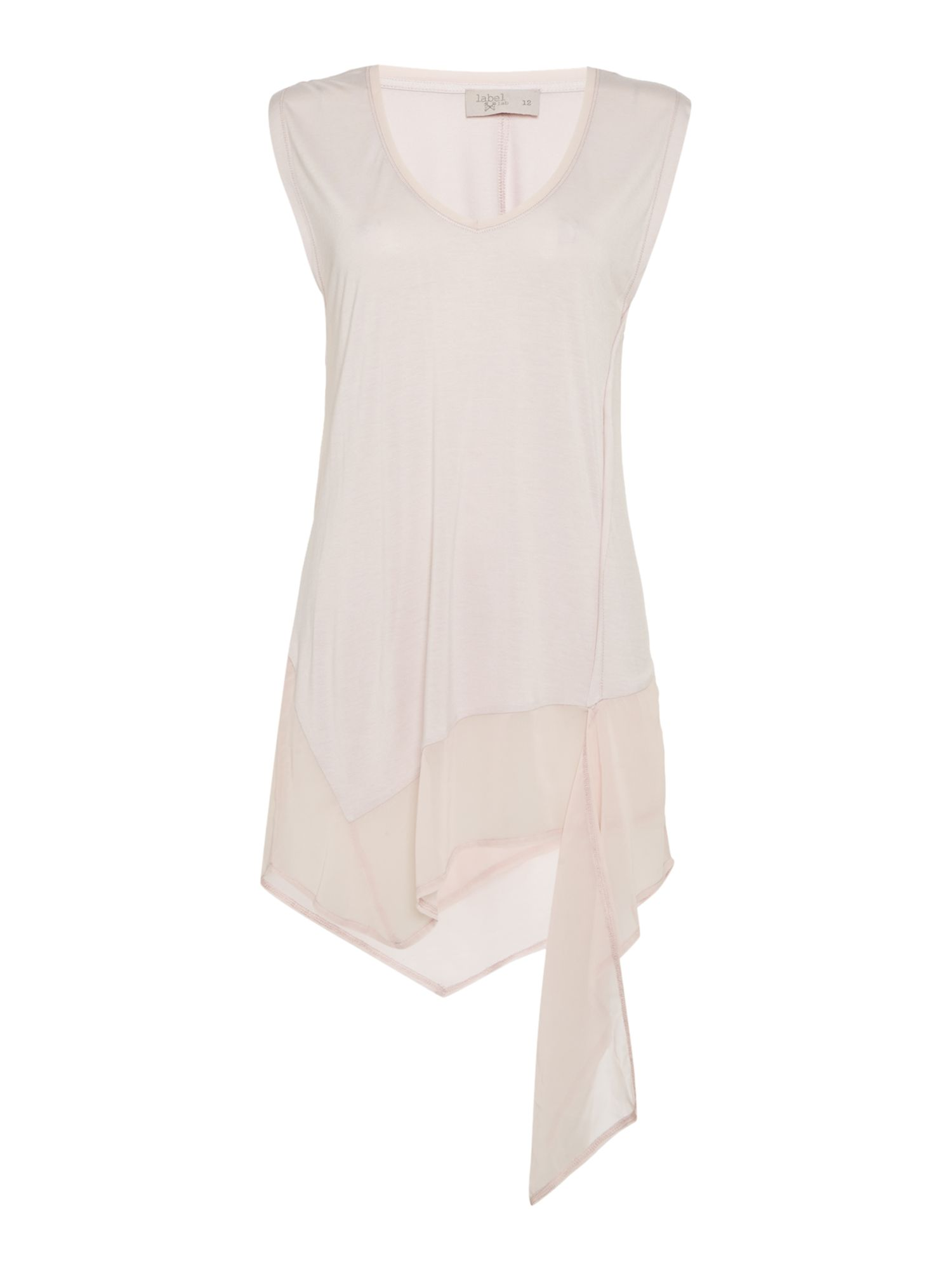 Label Lab Chiffon jersey mix vest, Pink