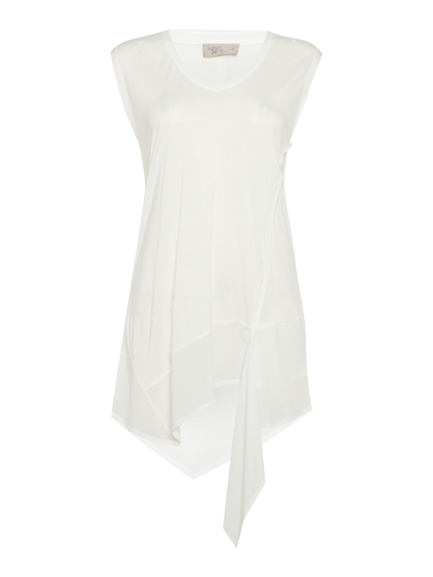 Label Lab Chiffon jersey mix vest, White