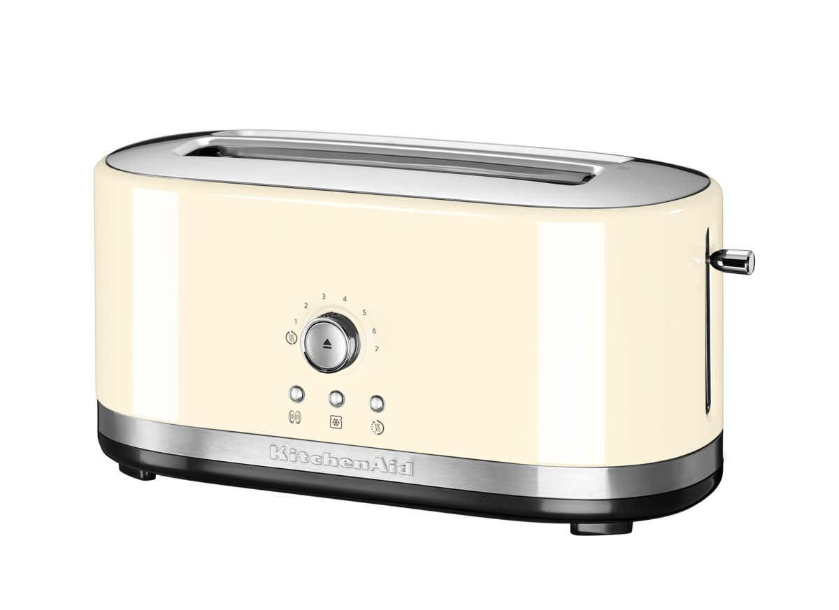 KitchenAid Manual Control Long Slot Toaster Almond Cream