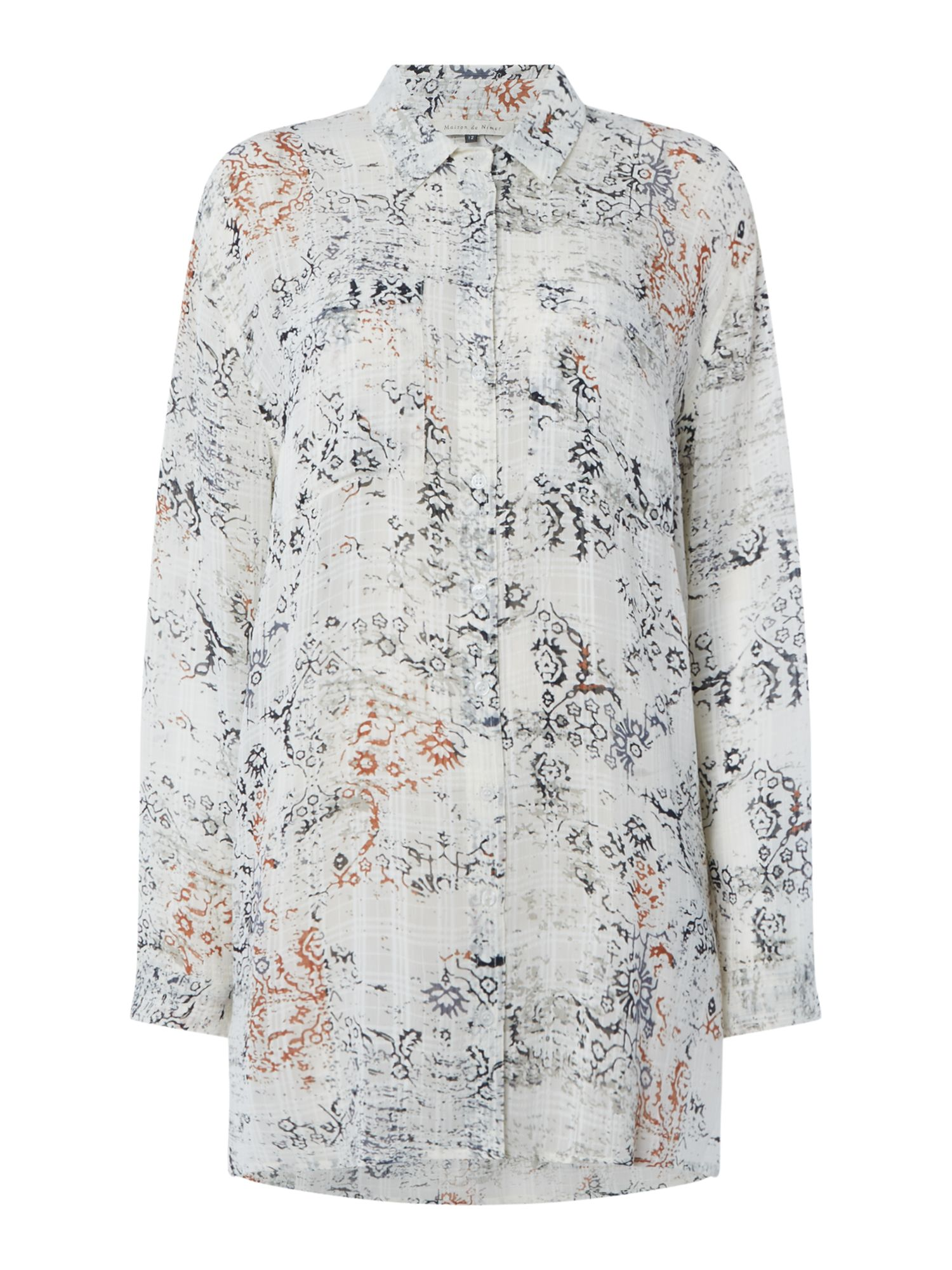 Maison De Nimes Decorative Print Longline Shirt, Multi-Coloured