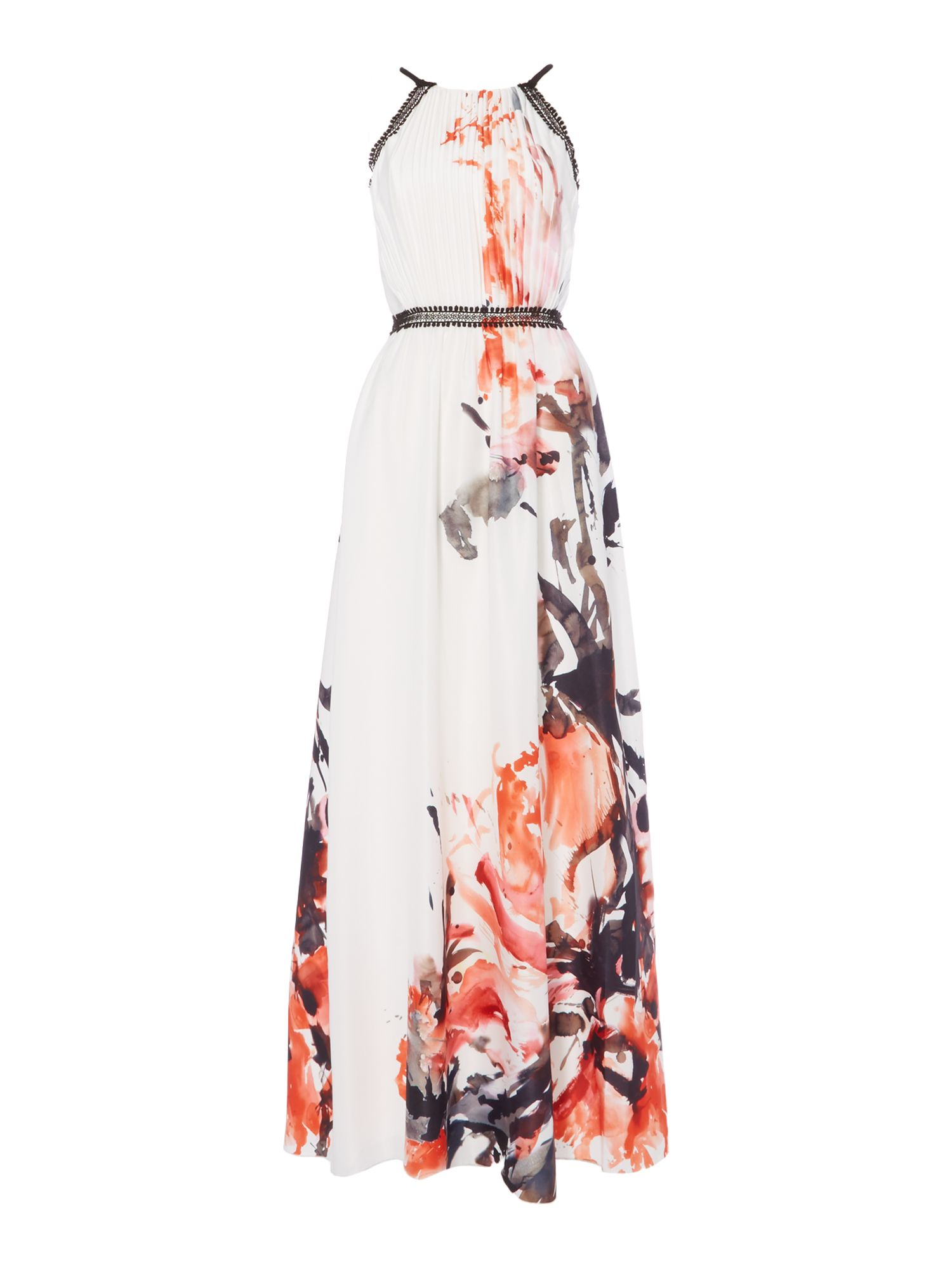 Little Mistress Long sleeved printed maxi, Multi-Coloured