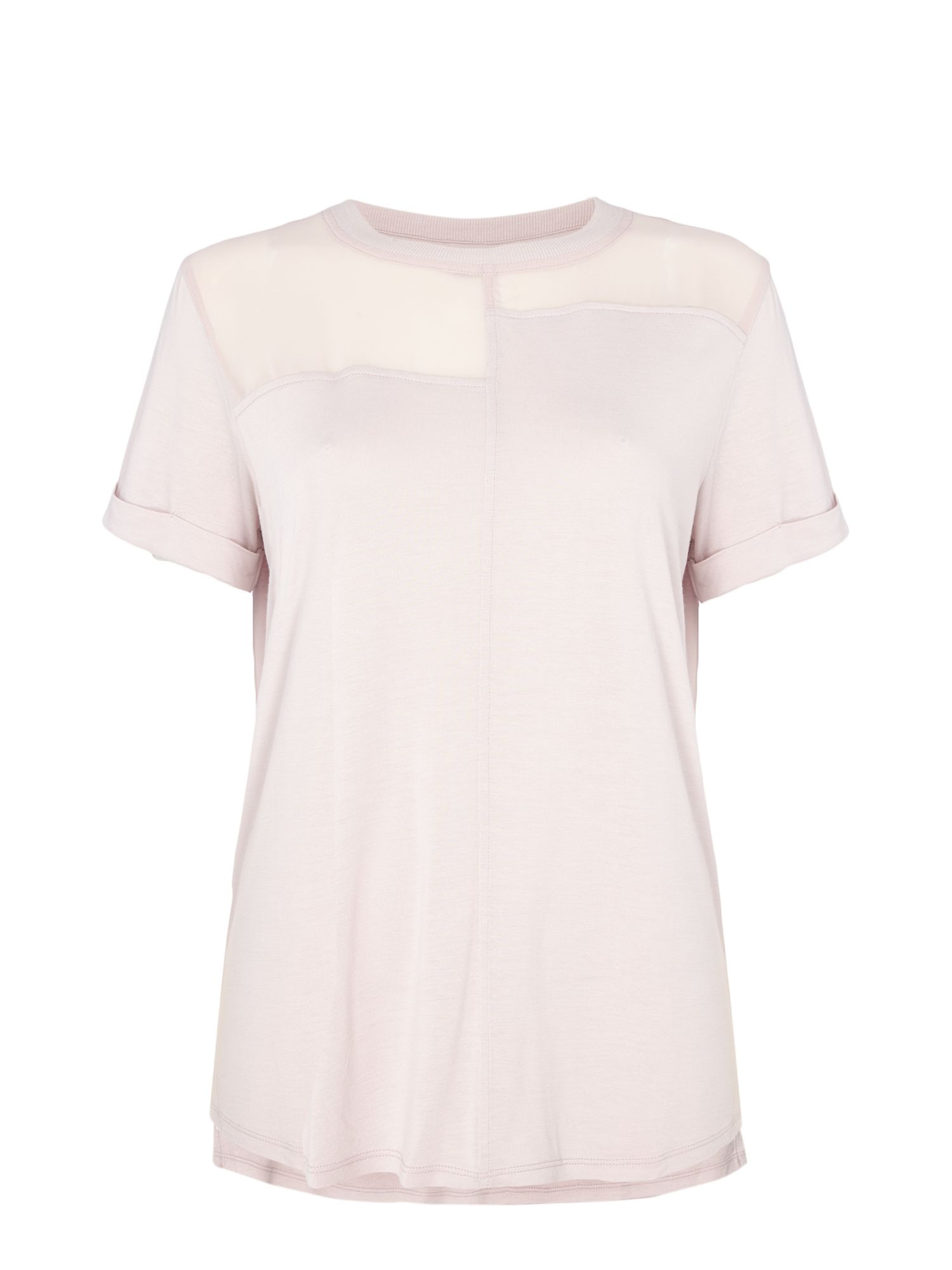 Label Lab Chiffon mix & match tee, Pink