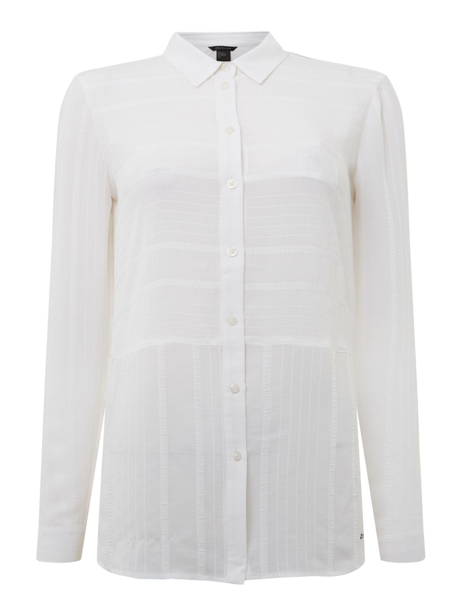 Armani Exchange Long Sleeve Shirt in White, White