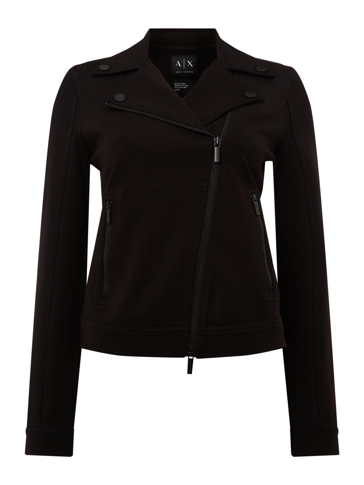 Armani Exchange Jacket in Black, Black