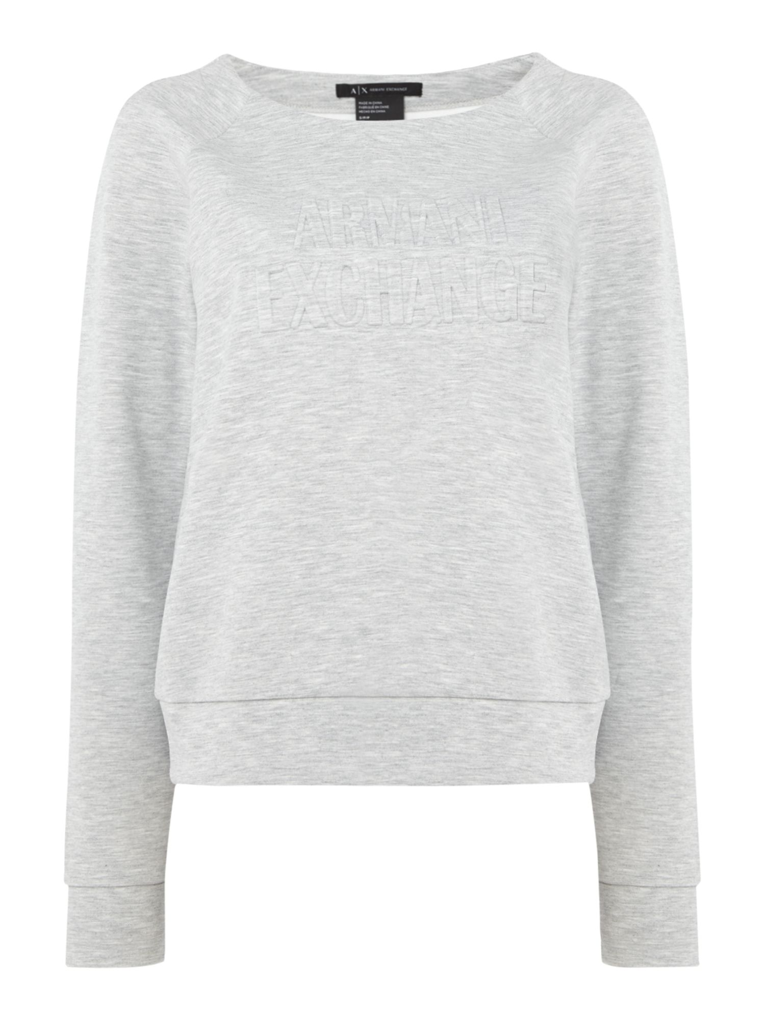 Armani Exchange Jersey Top in Heather Grey, Grey