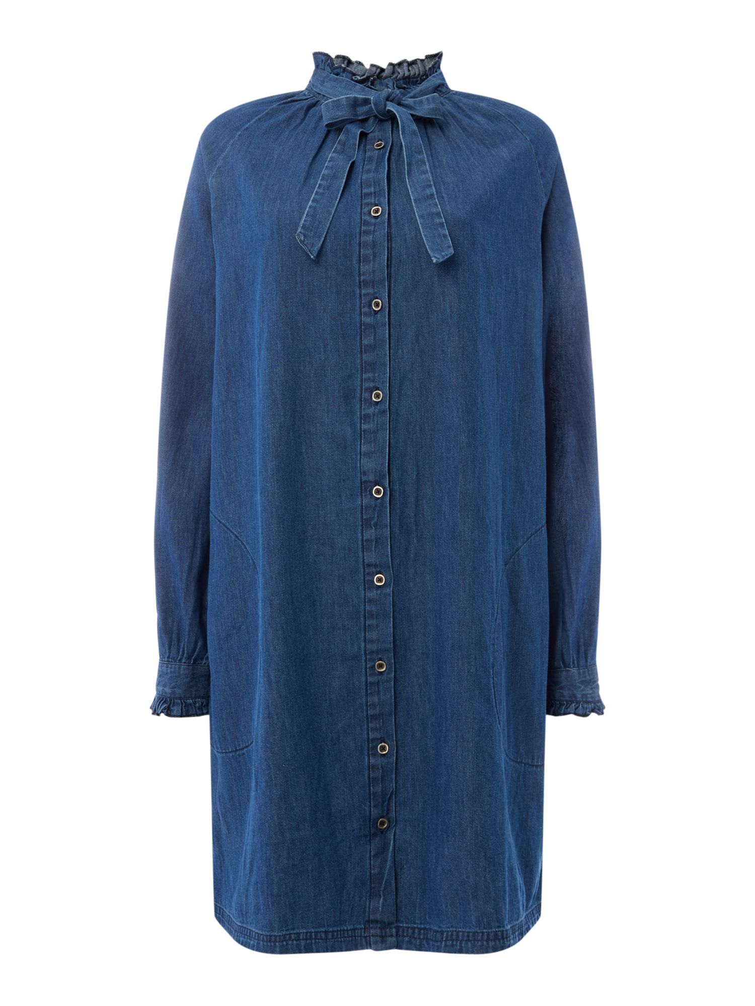 Maison De Nimes Potters Denim Smock Dress, Blue