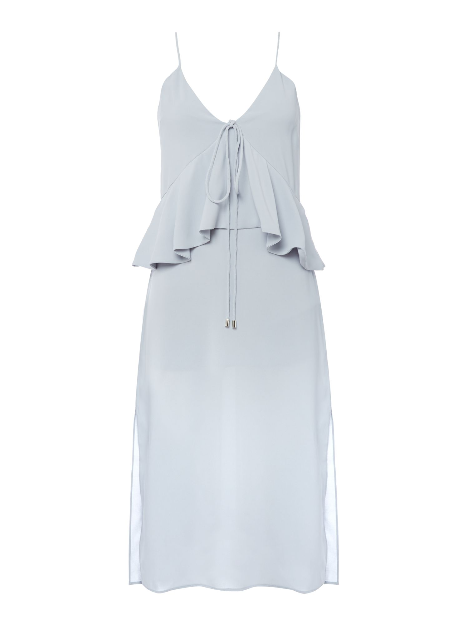 C/MEO Sleeveless v neck midi dress, Light Blue