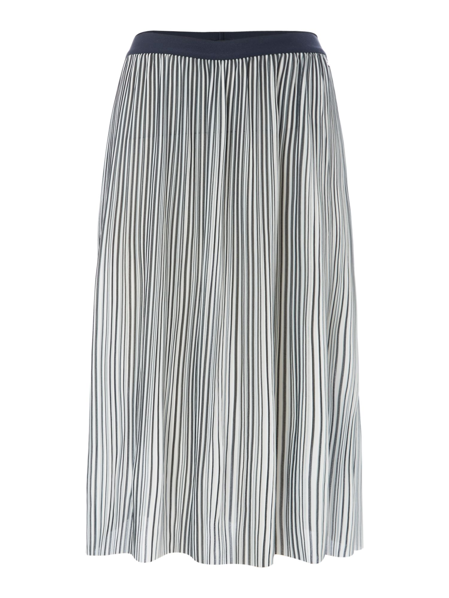 Armani Exchange Midi Skirt in Stripe, Multi-Coloured