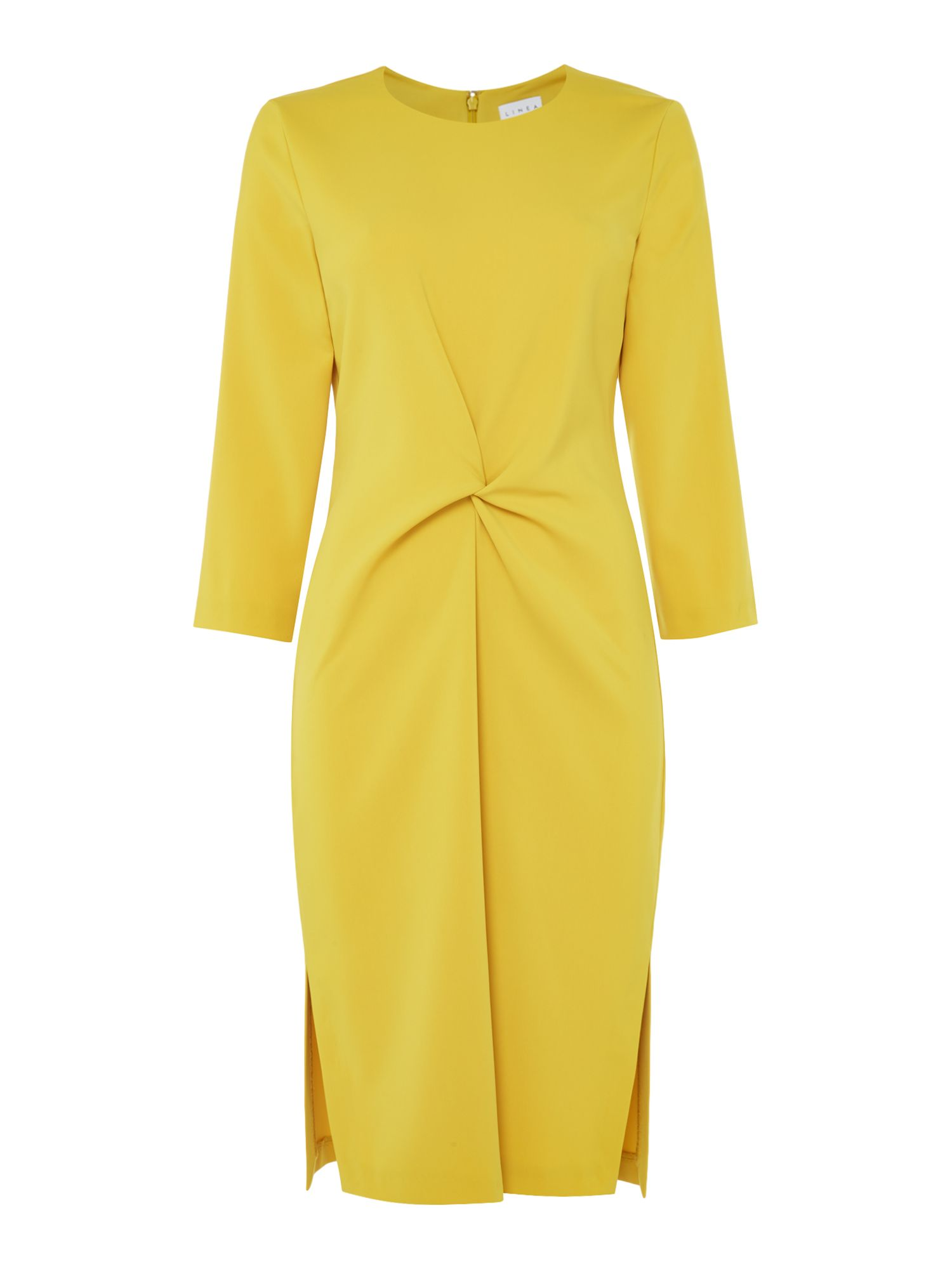 Linea Luna knot front dress, Yellow