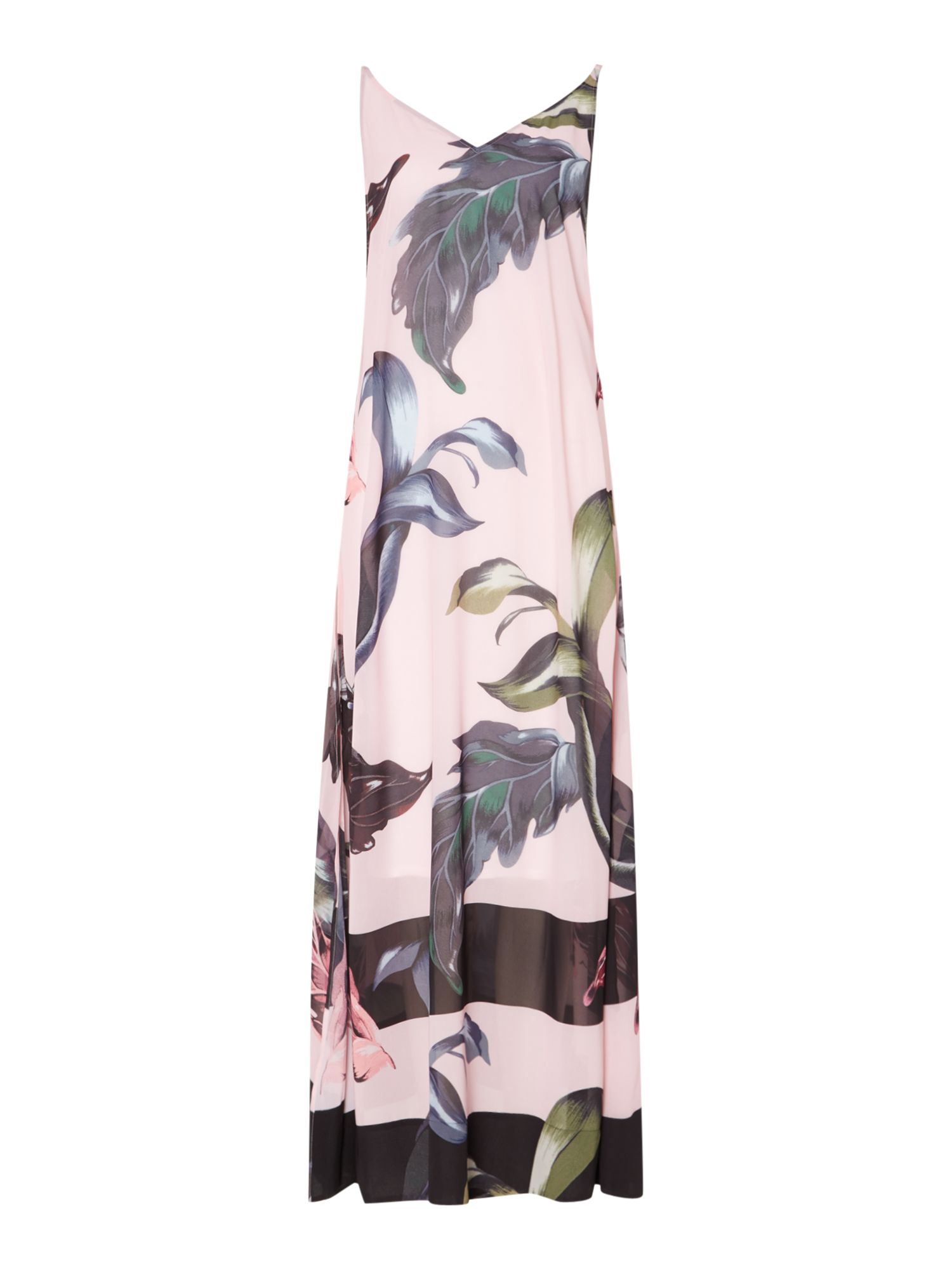 Ted Baker Eden floral print maxi cover up, Pale Pink