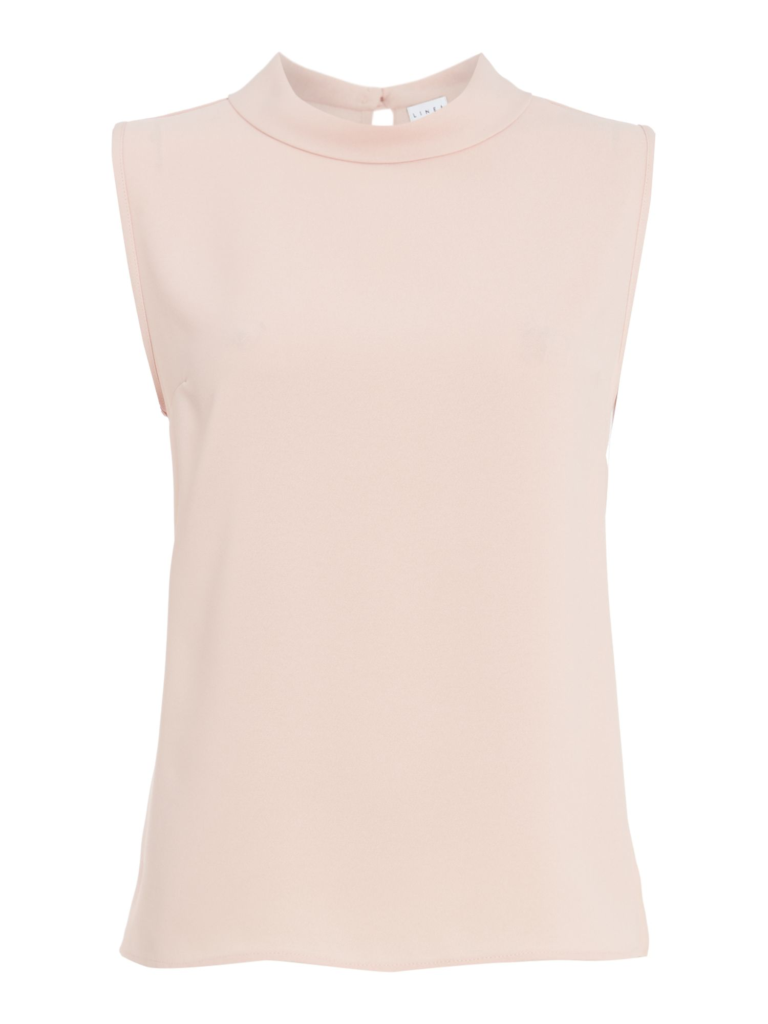 Linea Eris sleeveless high neck shell top, Pink