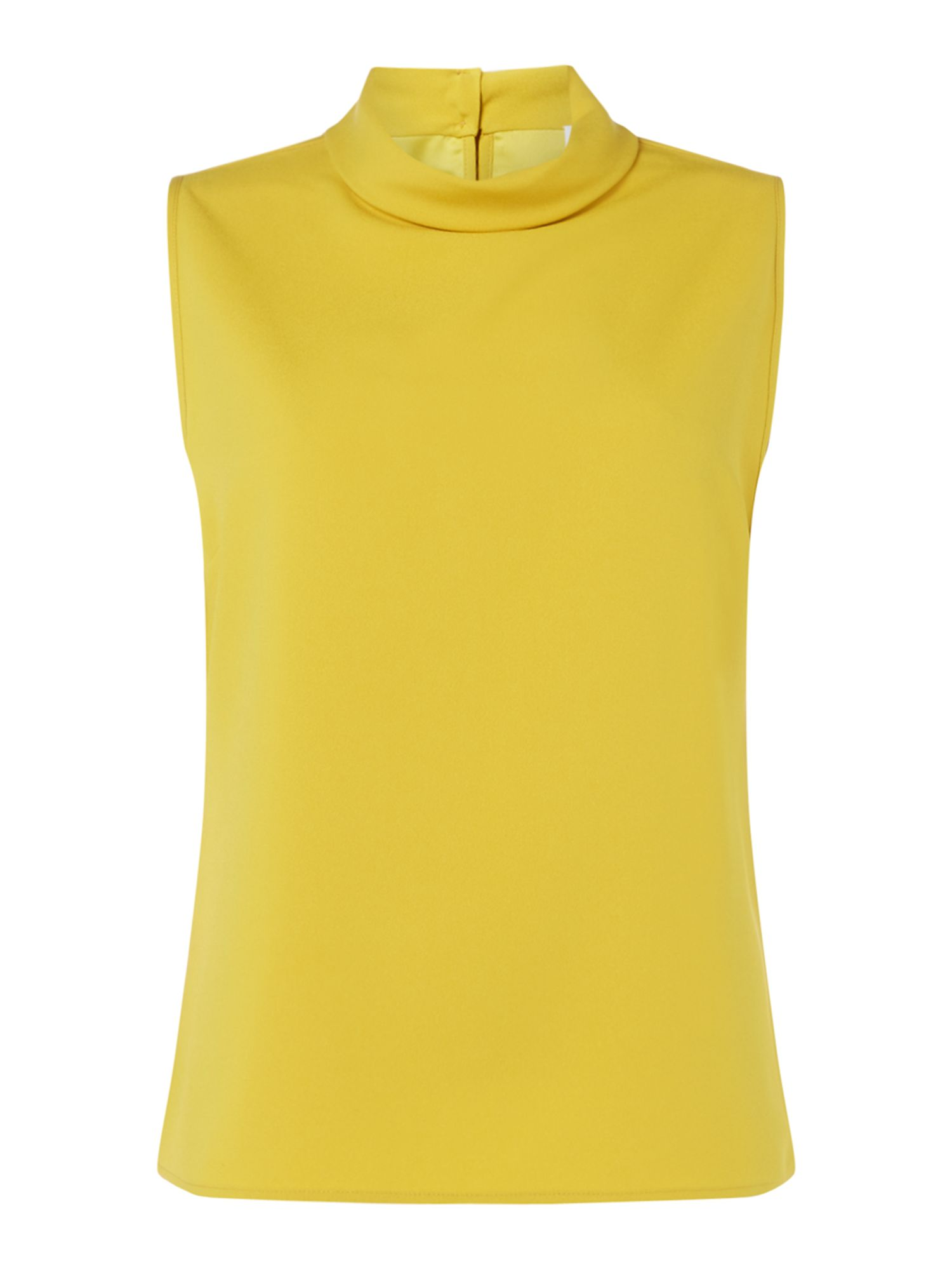 Linea Eris sleeveless high neck shell top, Yellow