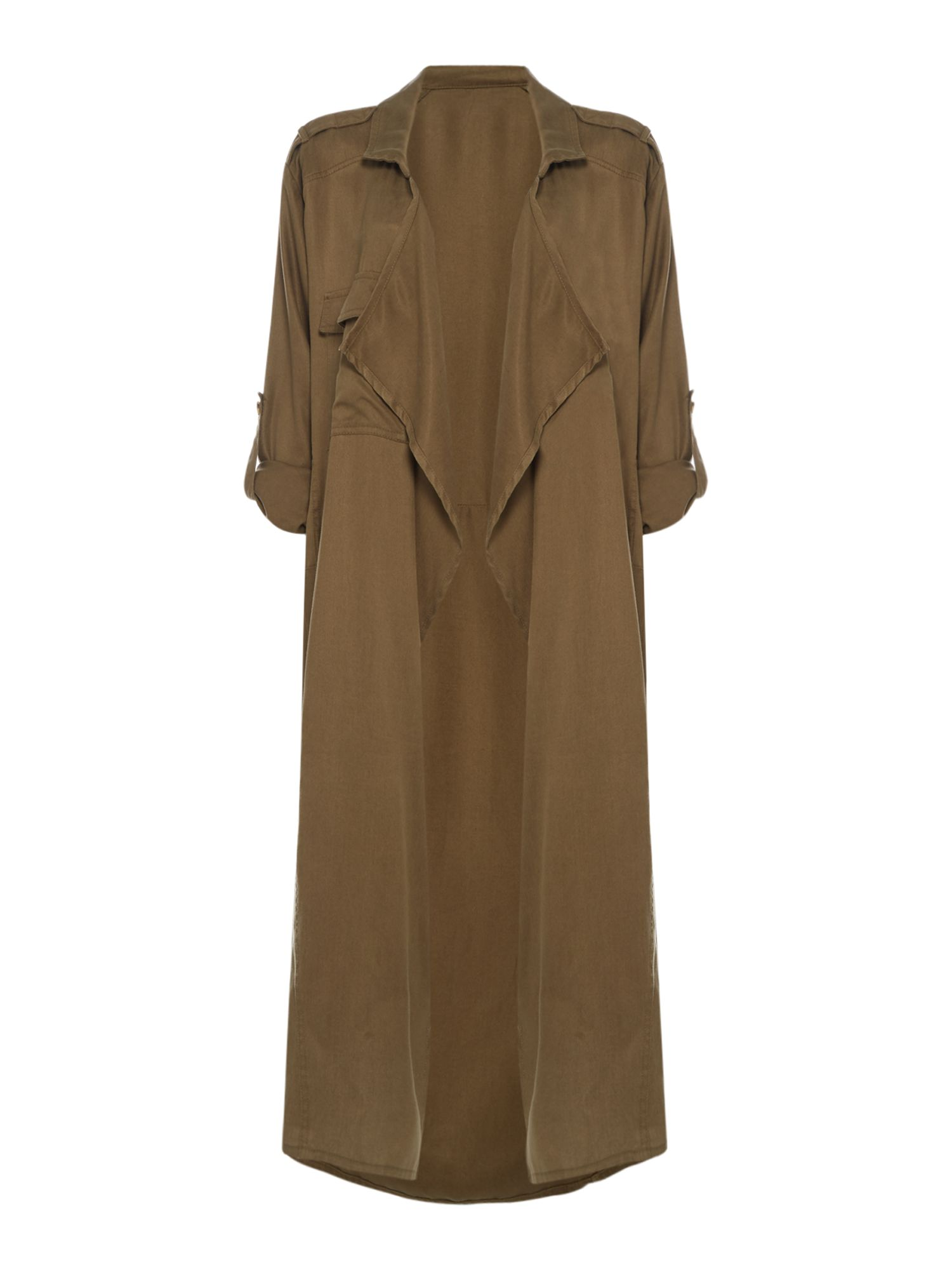 Label Lab Drape Duster Coat, Khaki