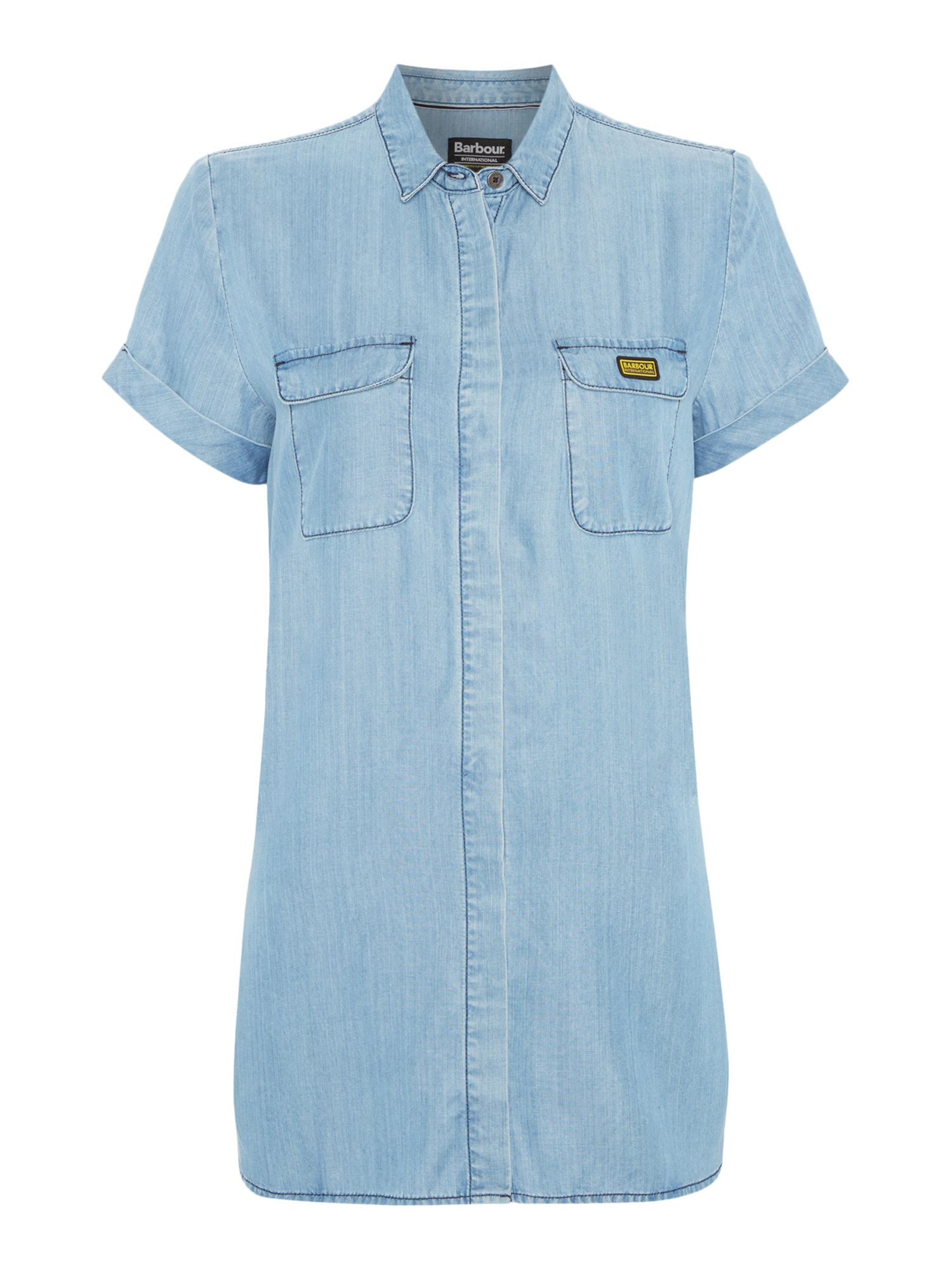 Barbour Barbour International Blyton shirt with sleeves, Chambray