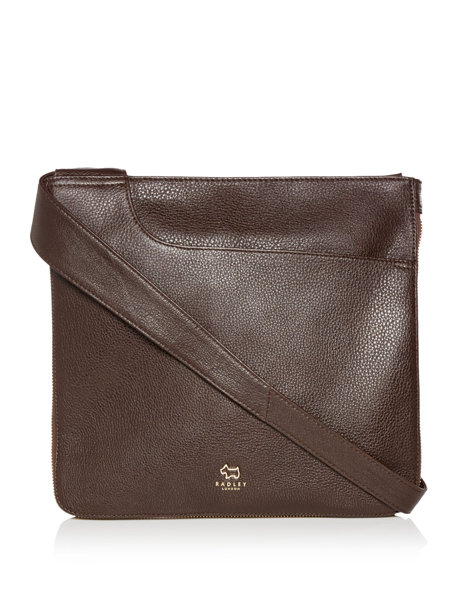 Radley Pocket bag large zip cross body bag Brown