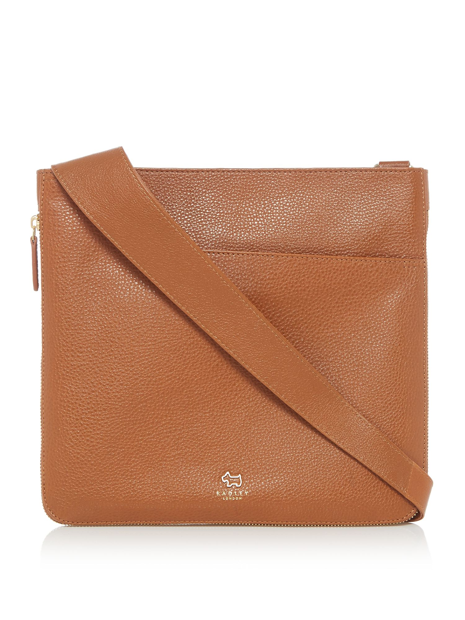 Radley Pocket bag large zip cross body bag Tan