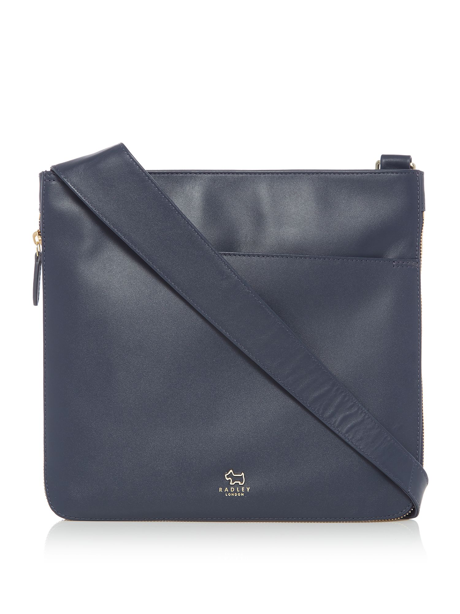 Radley Pocket bag large zip cross body bag Navy