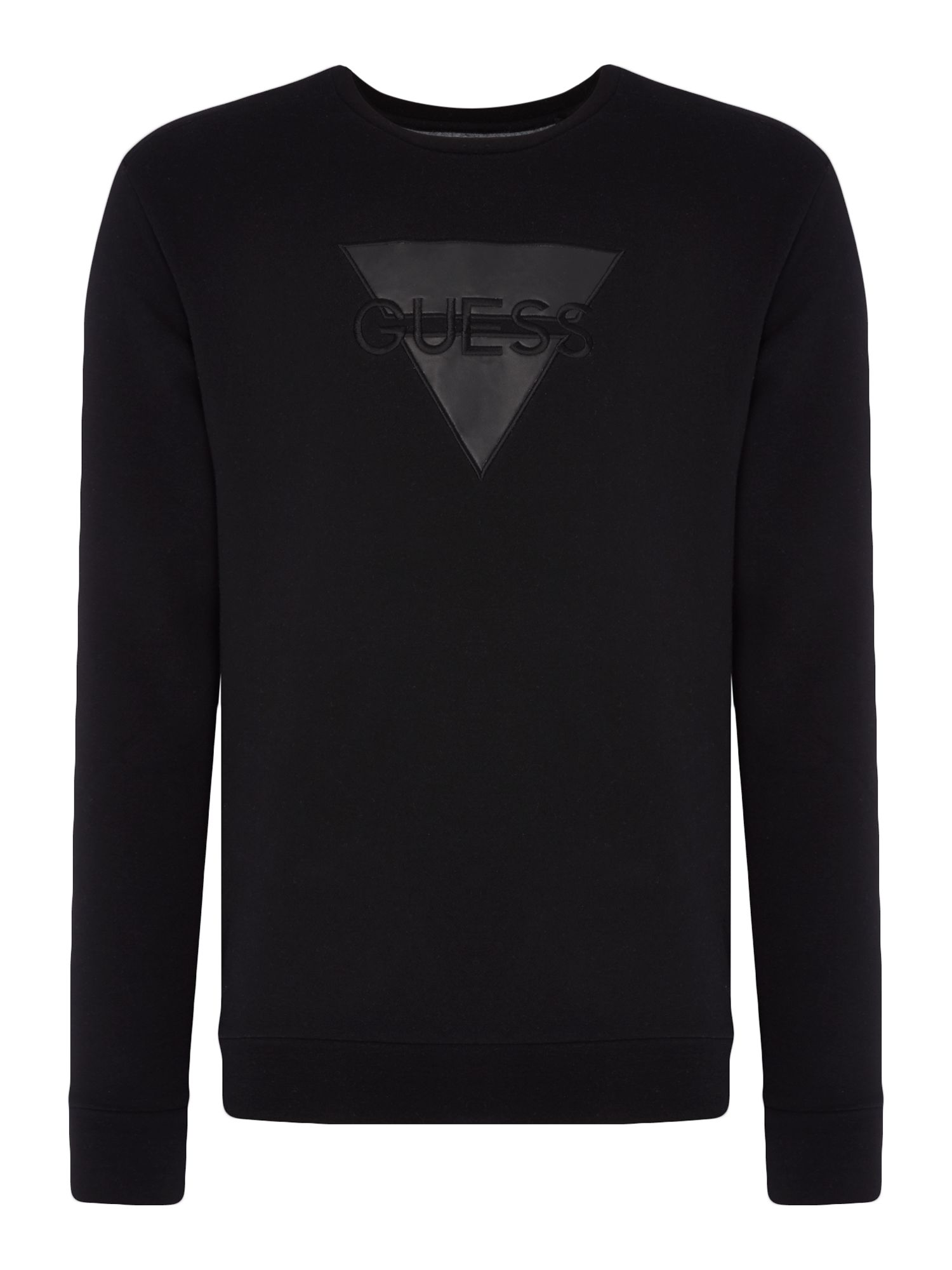 Men's Guess Embossed Guess Logo Sweatshirt, Black