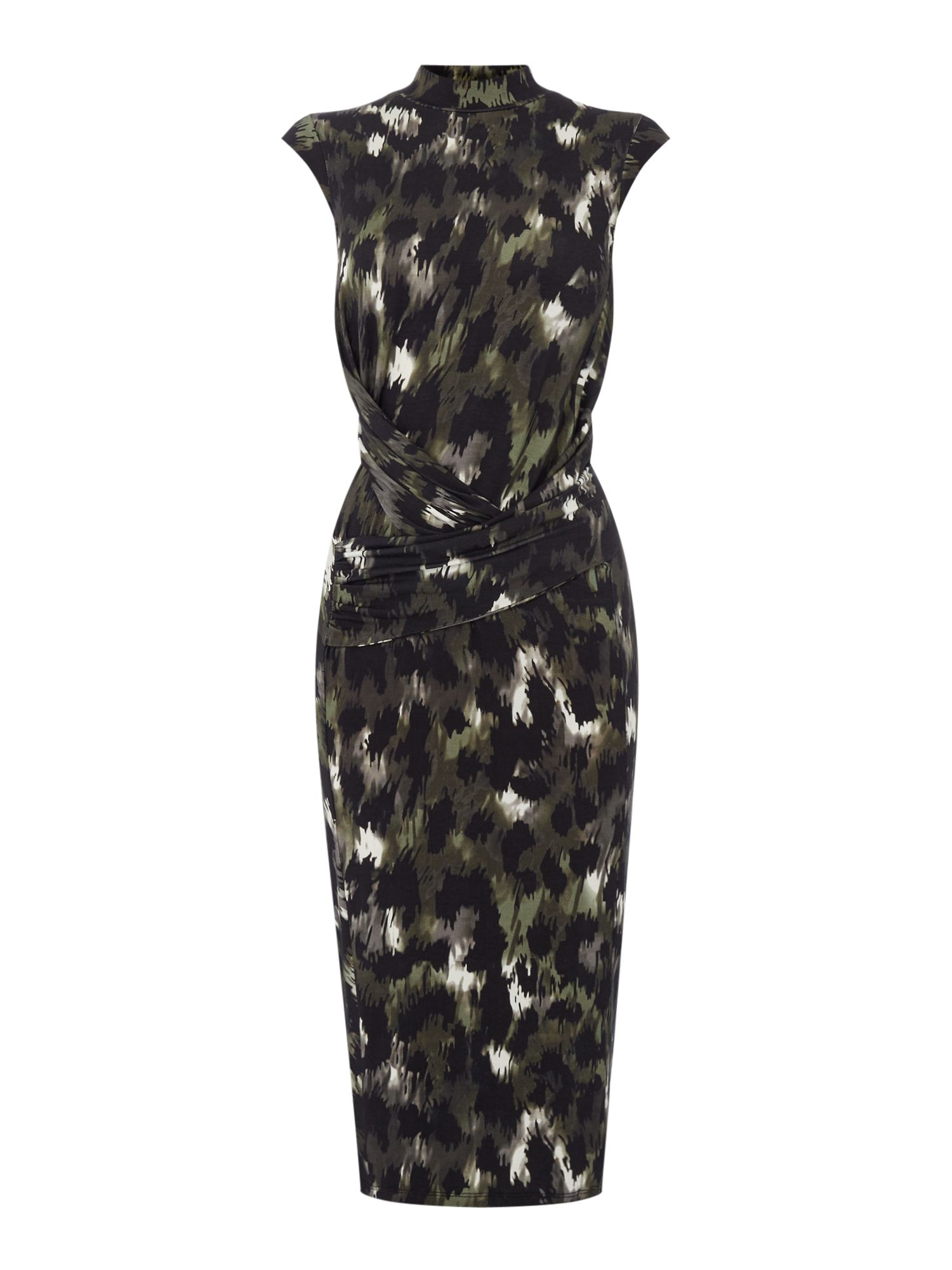Label Lab Camo Print Jersey Dress, Multi-Coloured
