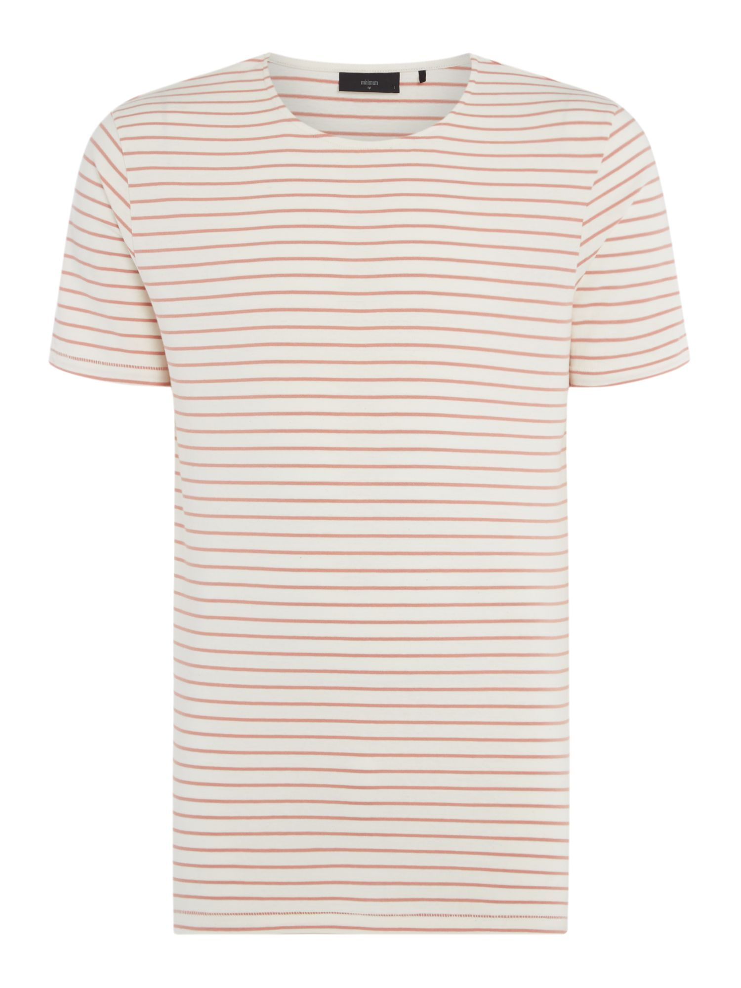 Men's Minimum Striped Crew Neck T-Shirt, Rose