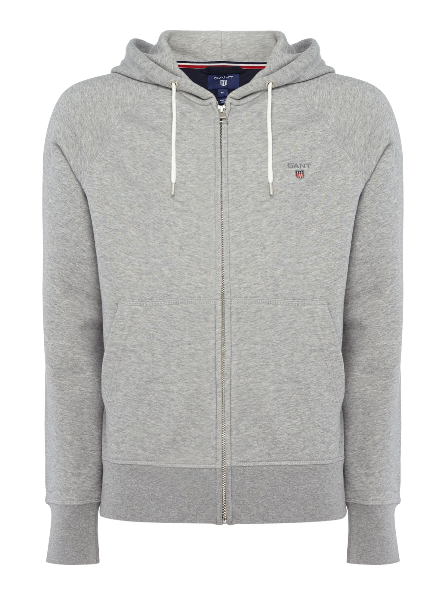 Men's Gant Original Full Zip Sweat Hoodie, Grey
