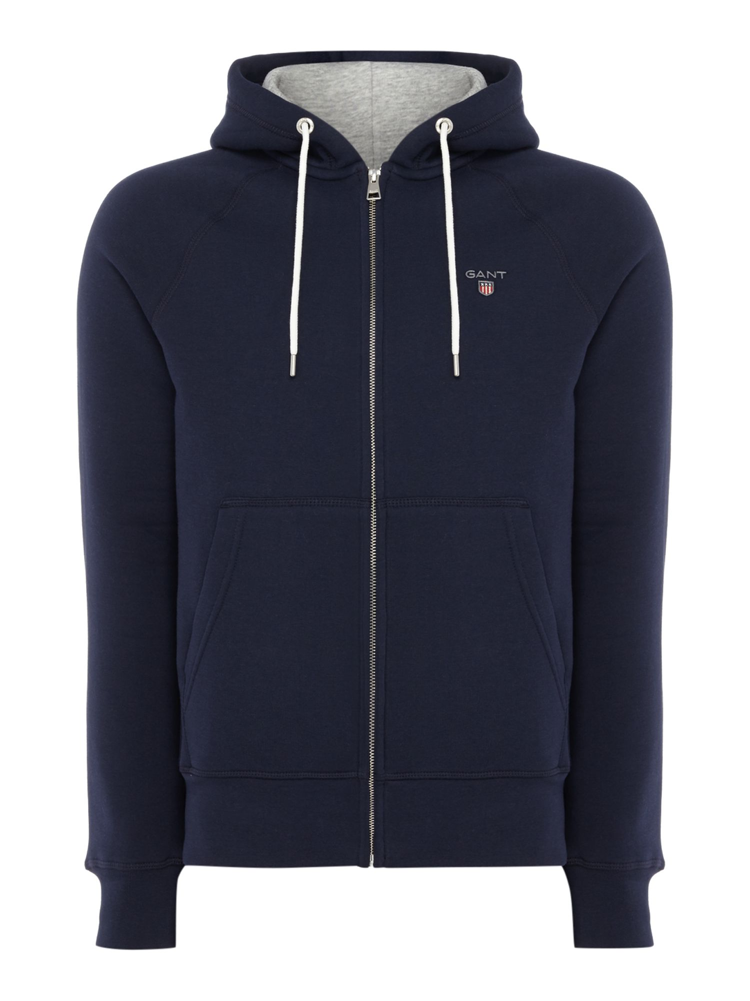 Men's Gant Original Full Zip Sweat Hoodie, Blue