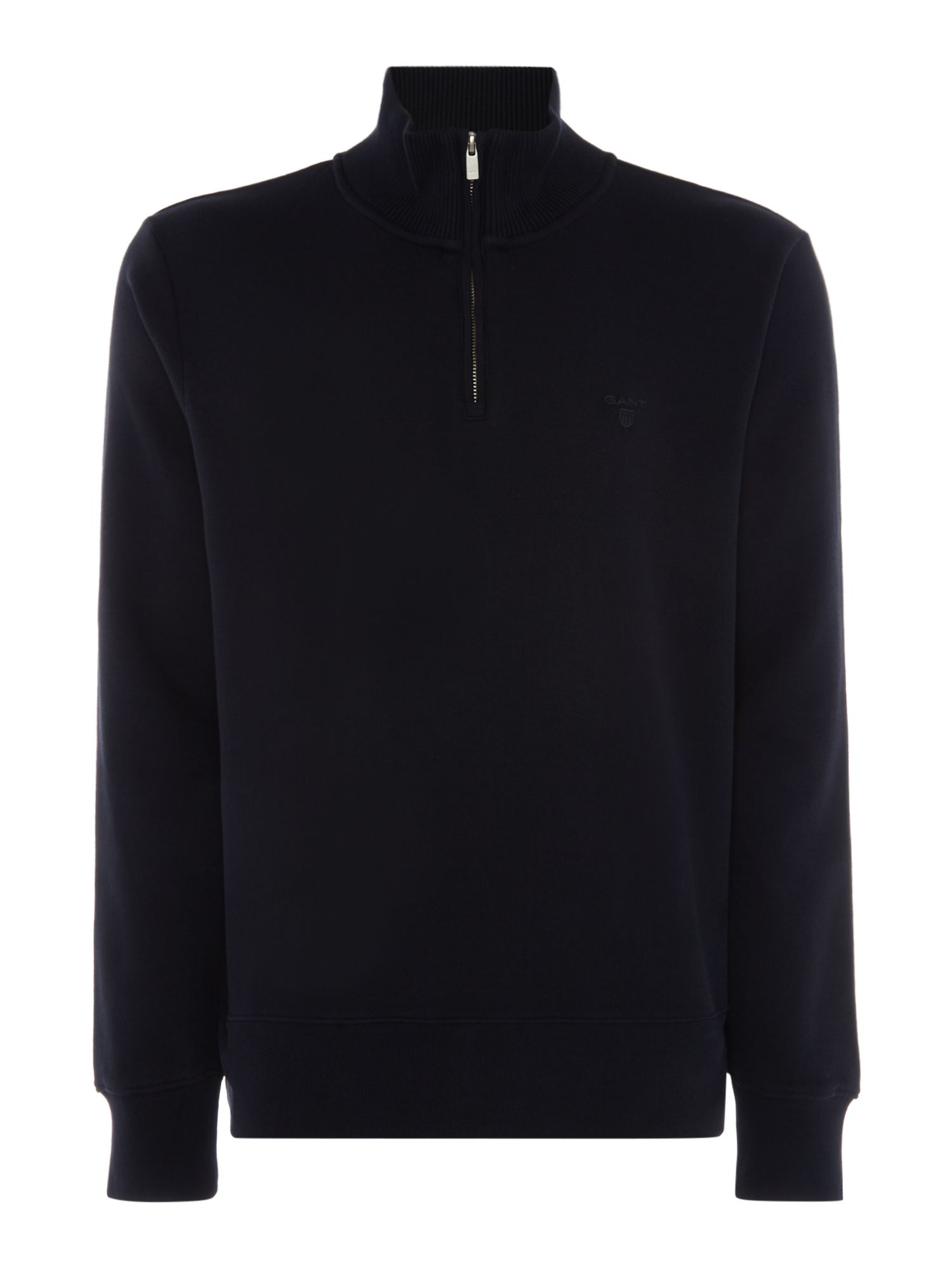 Men's Gant Sacker Rib Half Zip Sweat, Blue