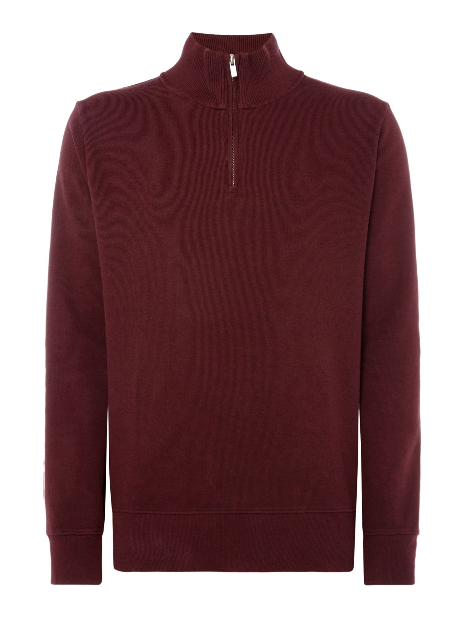 Men's Gant Sacker Rib Half Zip Sweat, Red
