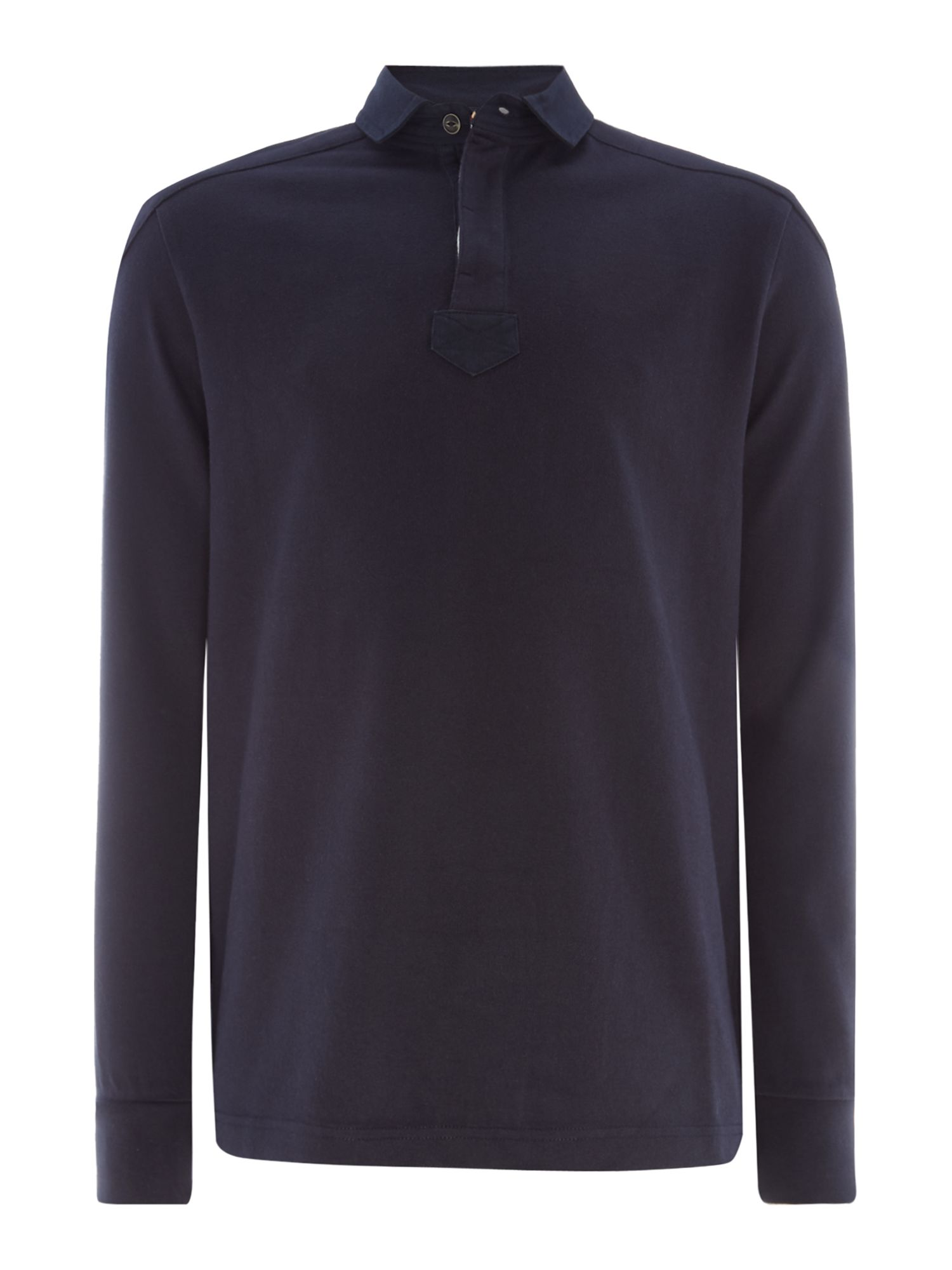 Men's Howick Signature Long Sleeve Rugby Shirt, Blue