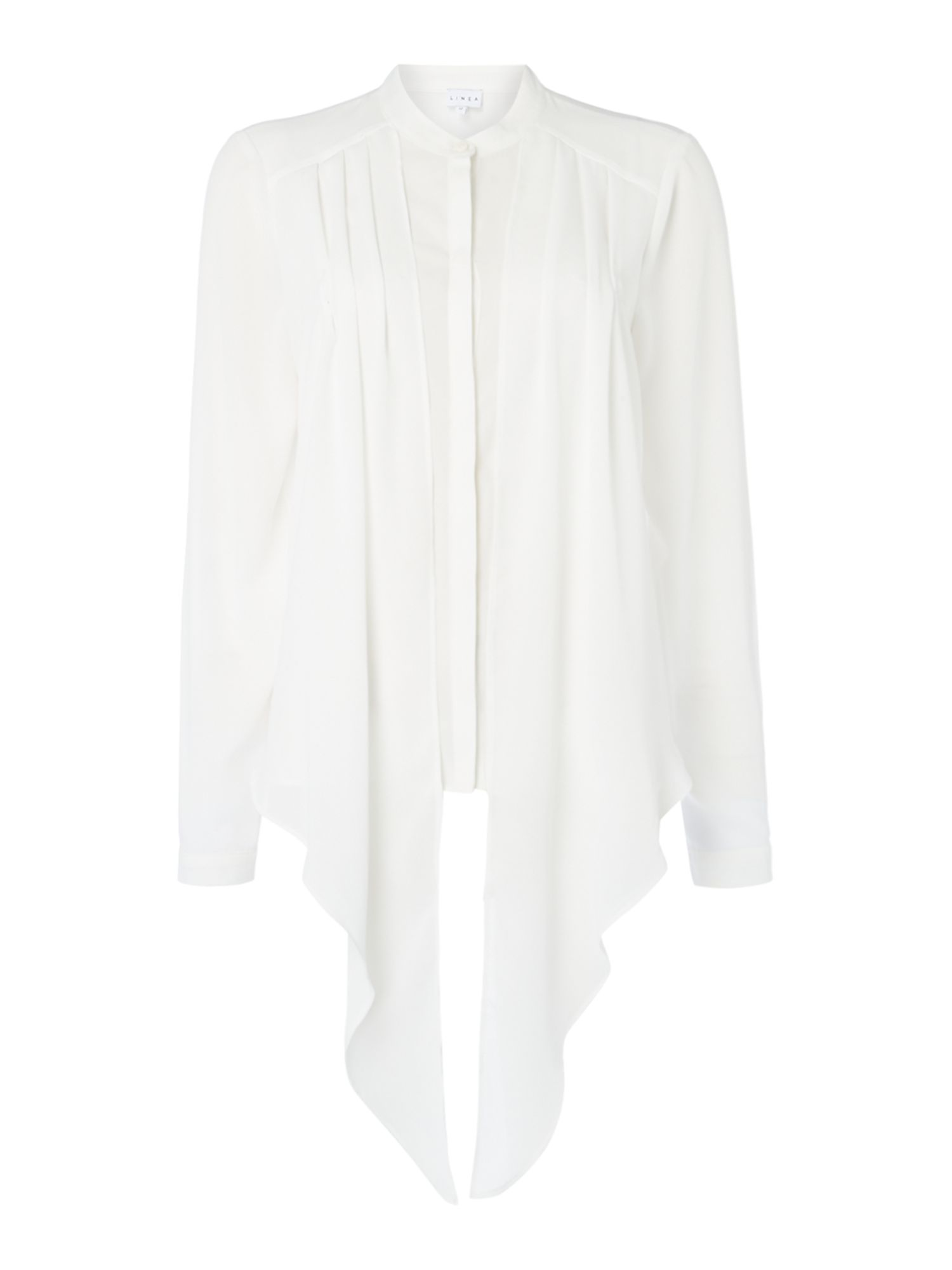 Linea Nyla tie front blouse, White