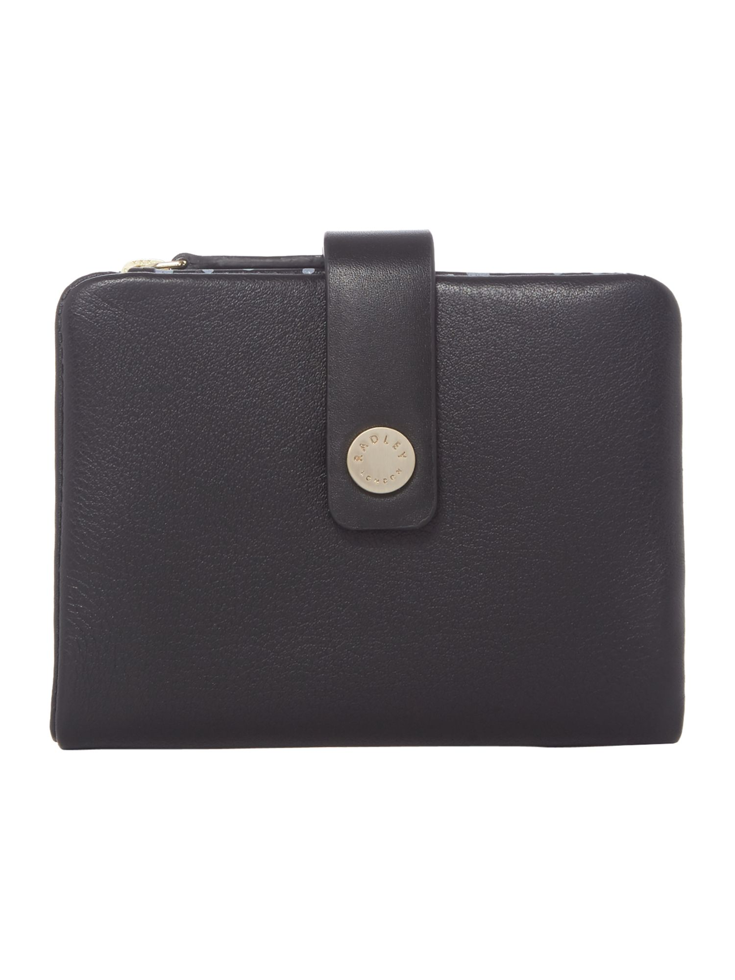Radley Larks wood small tab purse Black