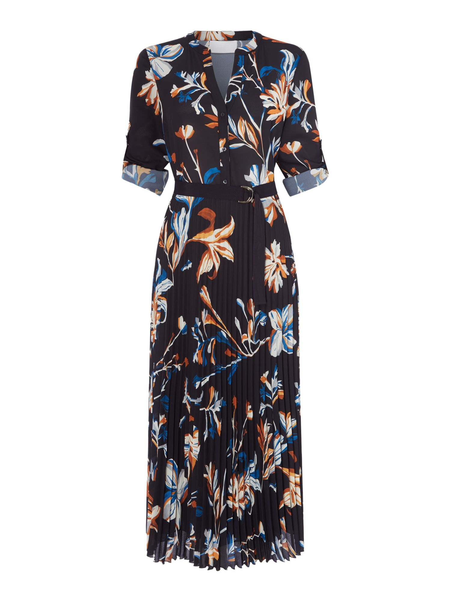 Hugo Boss Dipilisa Floral Print Dress, Blue