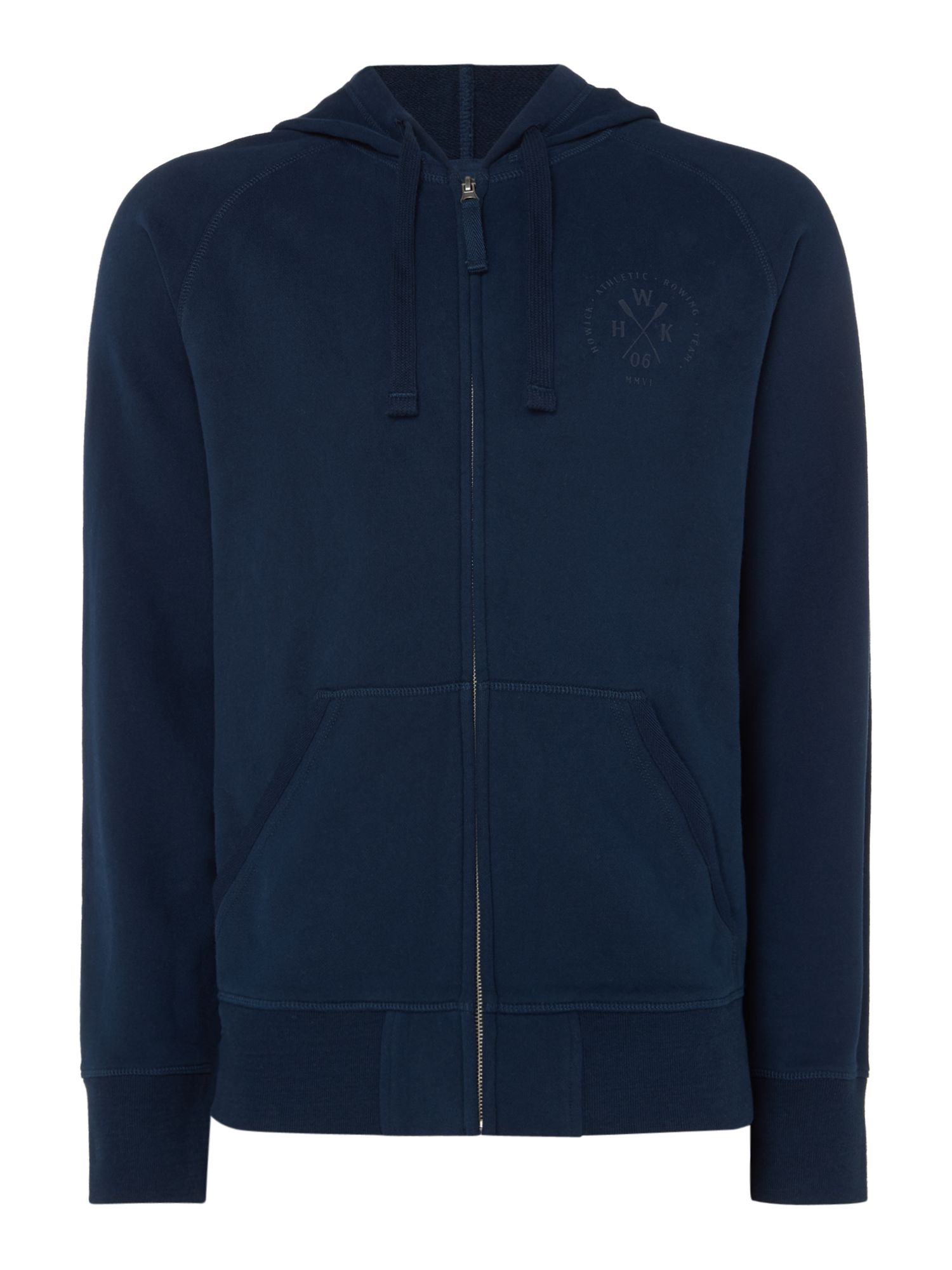Men's Howick Athletic Borg Lined Zip Through Hoodie, Blue