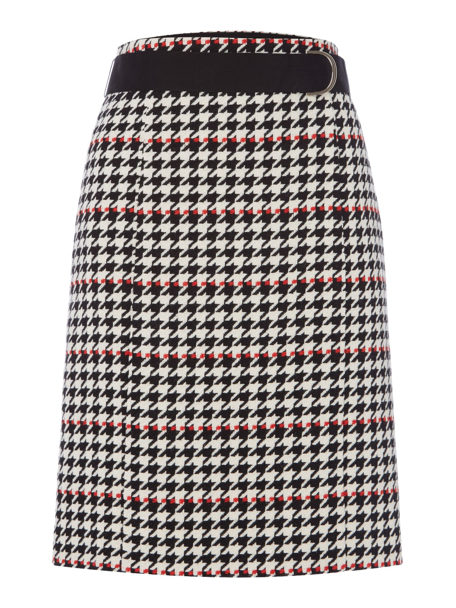 Hugo Boss Vunona Houndstooth Skirt, Multi-Coloured