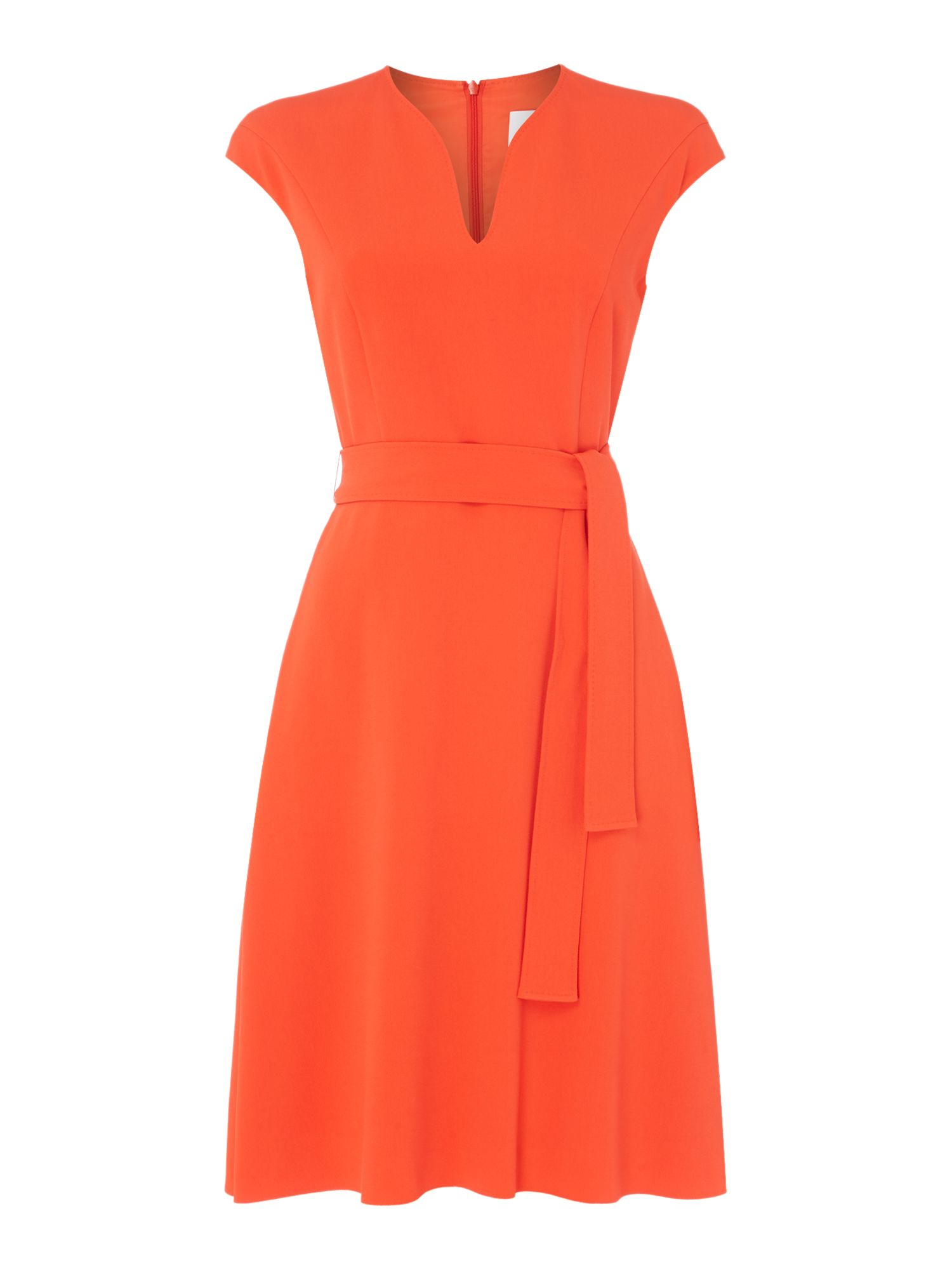 Hugo Boss Dilina V Neck Dress, Orange