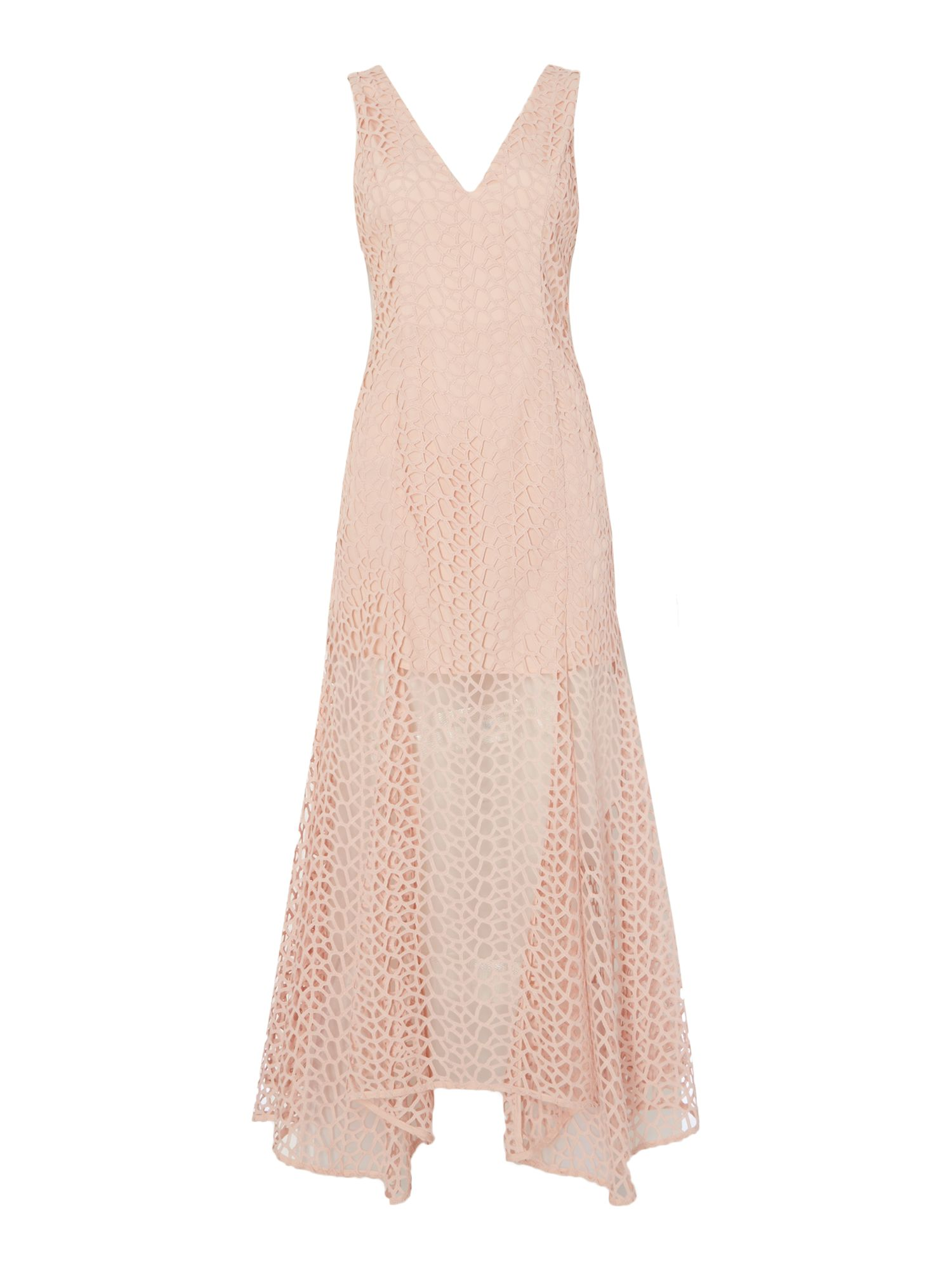 Keepsake Sleeveless lace gown, Pink