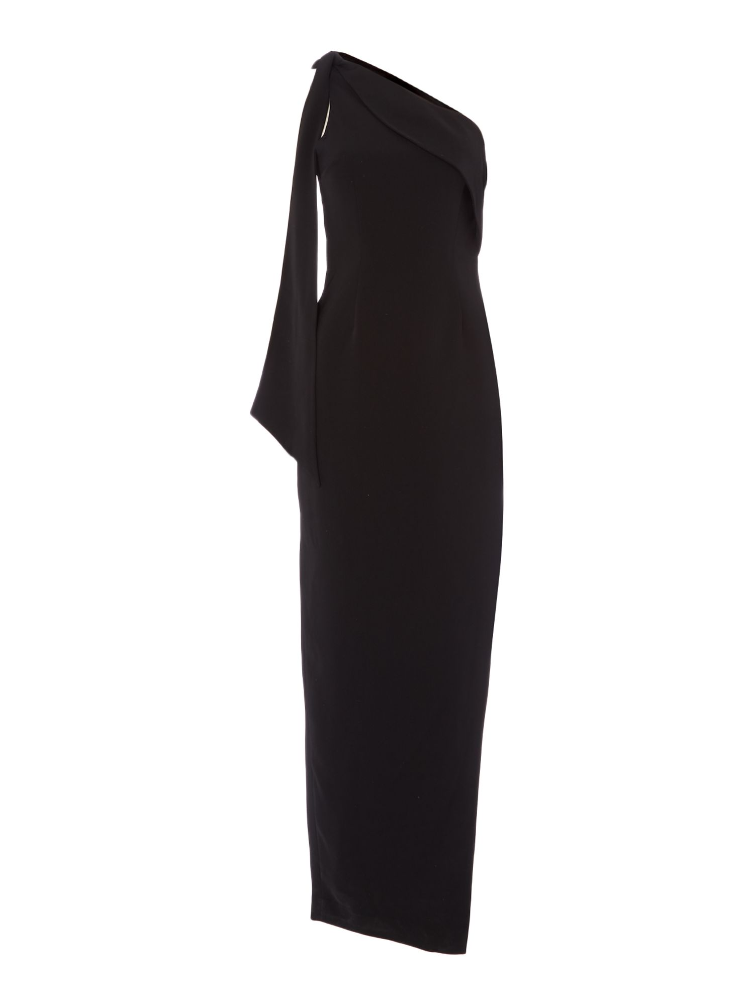 Keepsake One shoulder split gown, Black