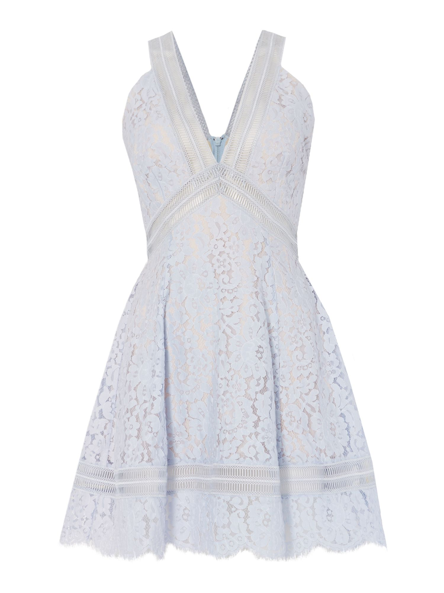 Keepsake Sleeveless lace mini, Blue